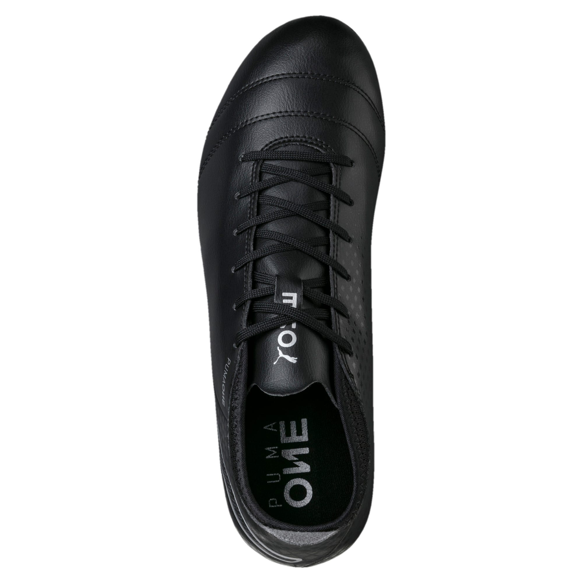 Thumbnail 5 of ONE 17.4 FG Men's Football Boots, Black-Black-Silver, medium-IND