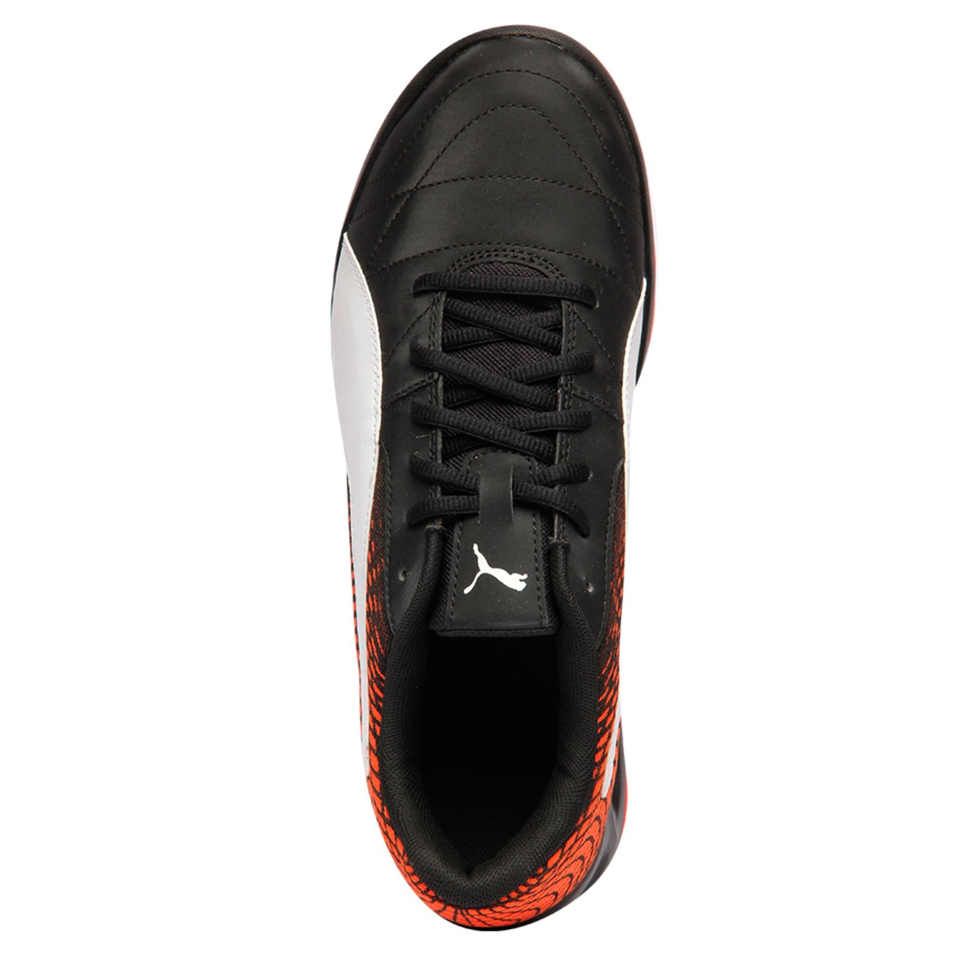 Thumbnail 3 of Veloz Indoor NG Training Shoes, Black-White-Cherry, medium-IND