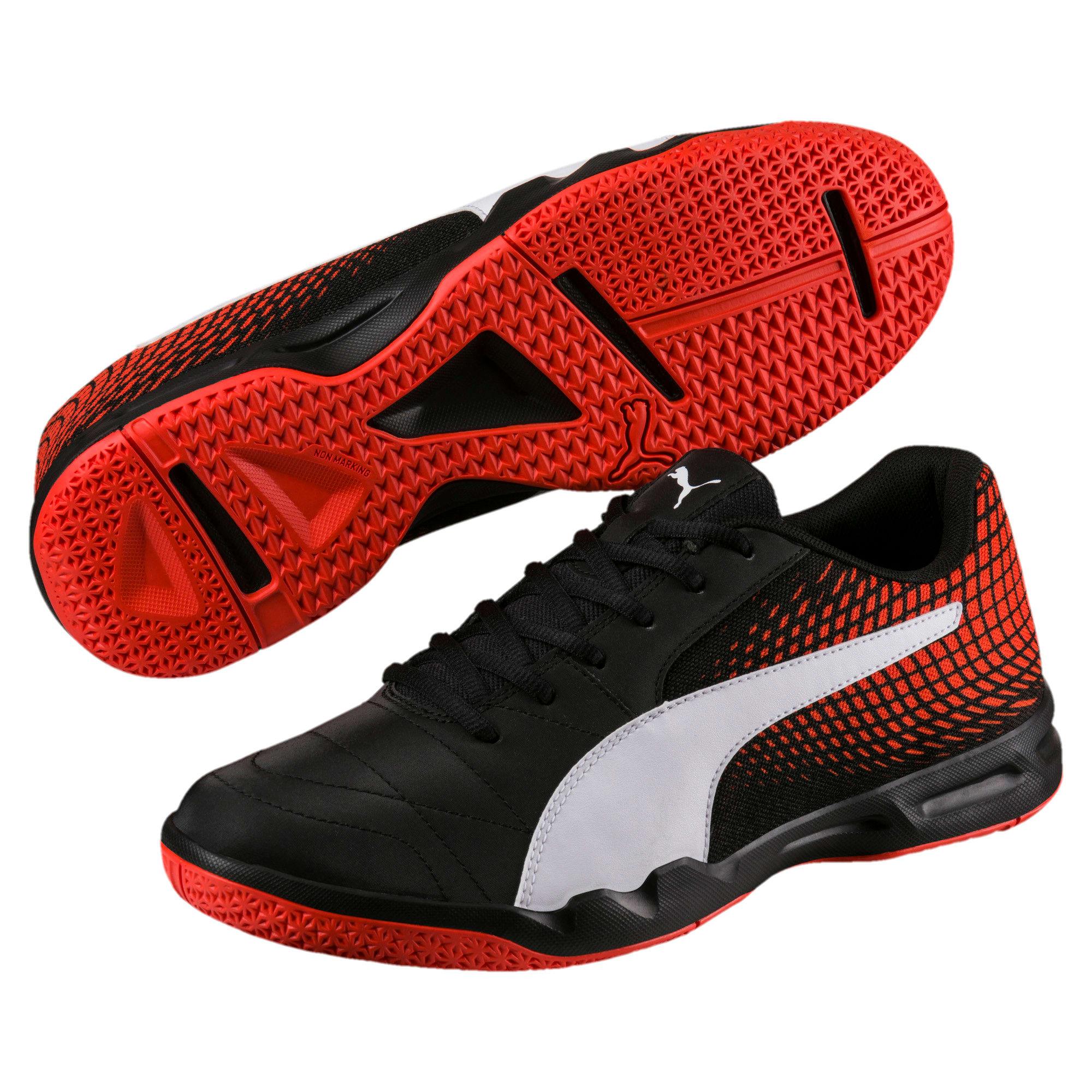 Thumbnail 2 of Veloz Indoor NG Training Shoes, Black-White-Cherry, medium-IND