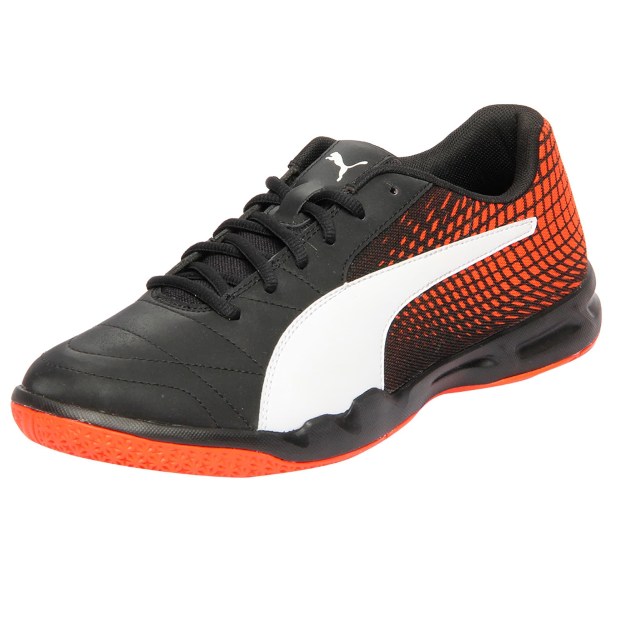 Thumbnail 1 of Veloz Indoor NG Training Shoes, Black-White-Cherry, medium-IND