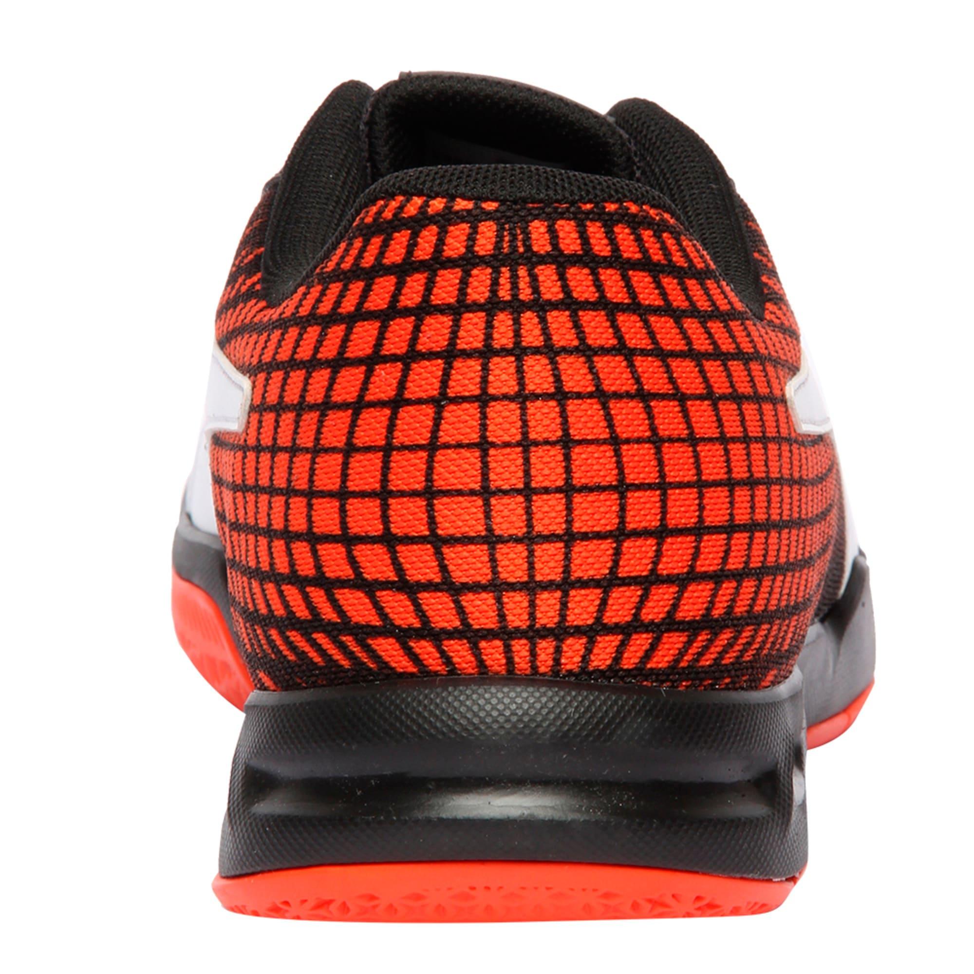 Thumbnail 4 of Veloz Indoor NG Training Shoes, Black-White-Cherry, medium-IND