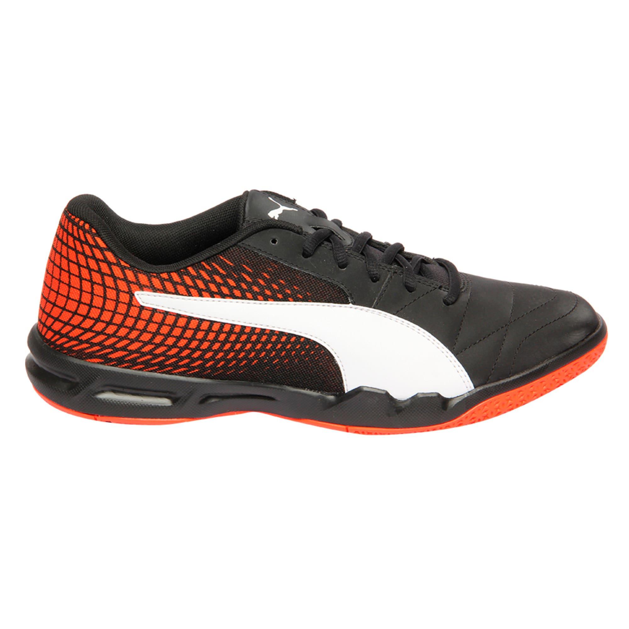 Thumbnail 5 of Veloz Indoor NG Training Shoes, Black-White-Cherry, medium-IND