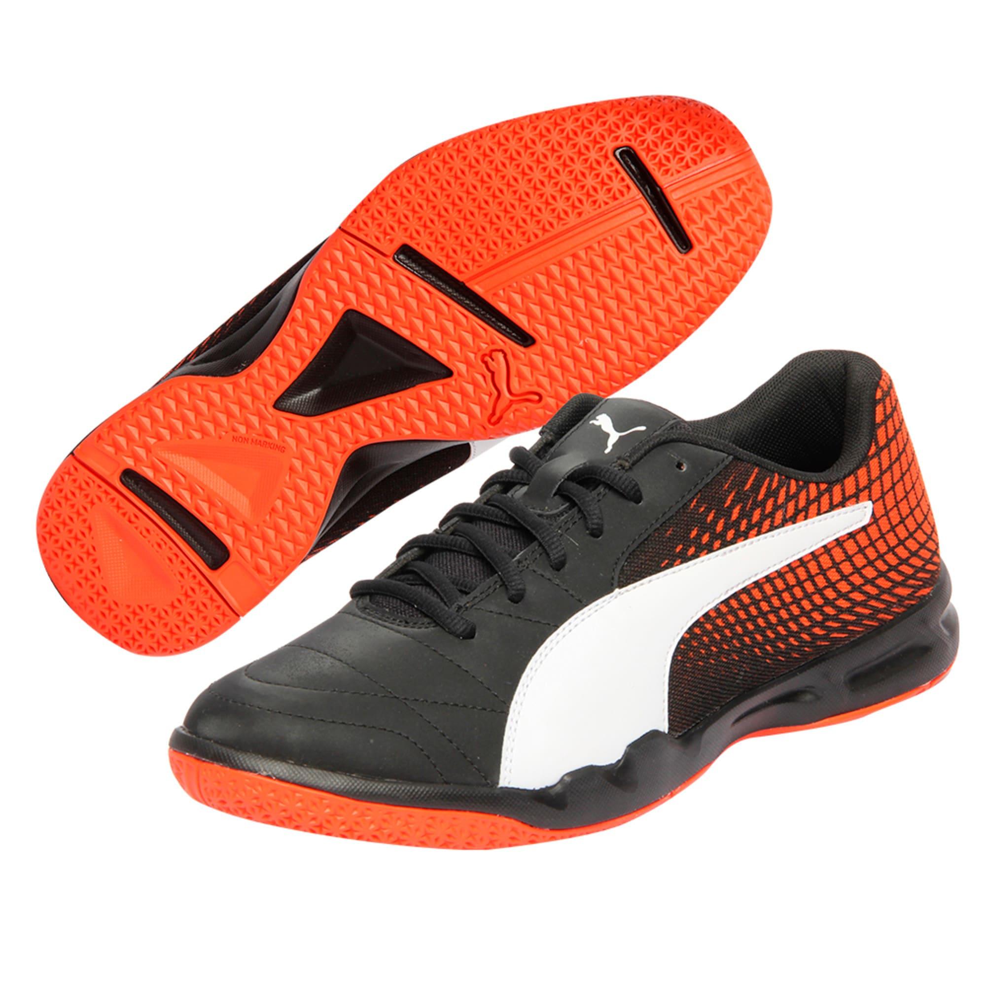 Thumbnail 6 of Veloz Indoor NG Training Shoes, Black-White-Cherry, medium-IND