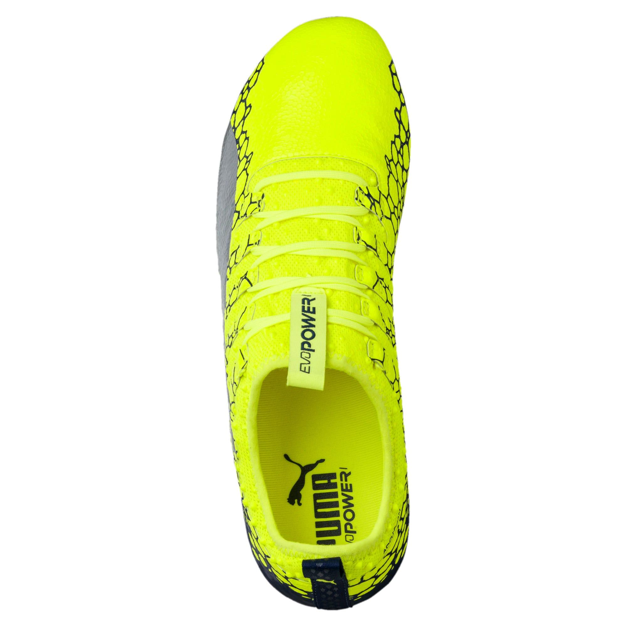 Thumbnail 5 of evoPOWER Vigor 1 Graphic FG Men's Firm Ground Soccer Cleats, Yellow-Silver-Blue, medium