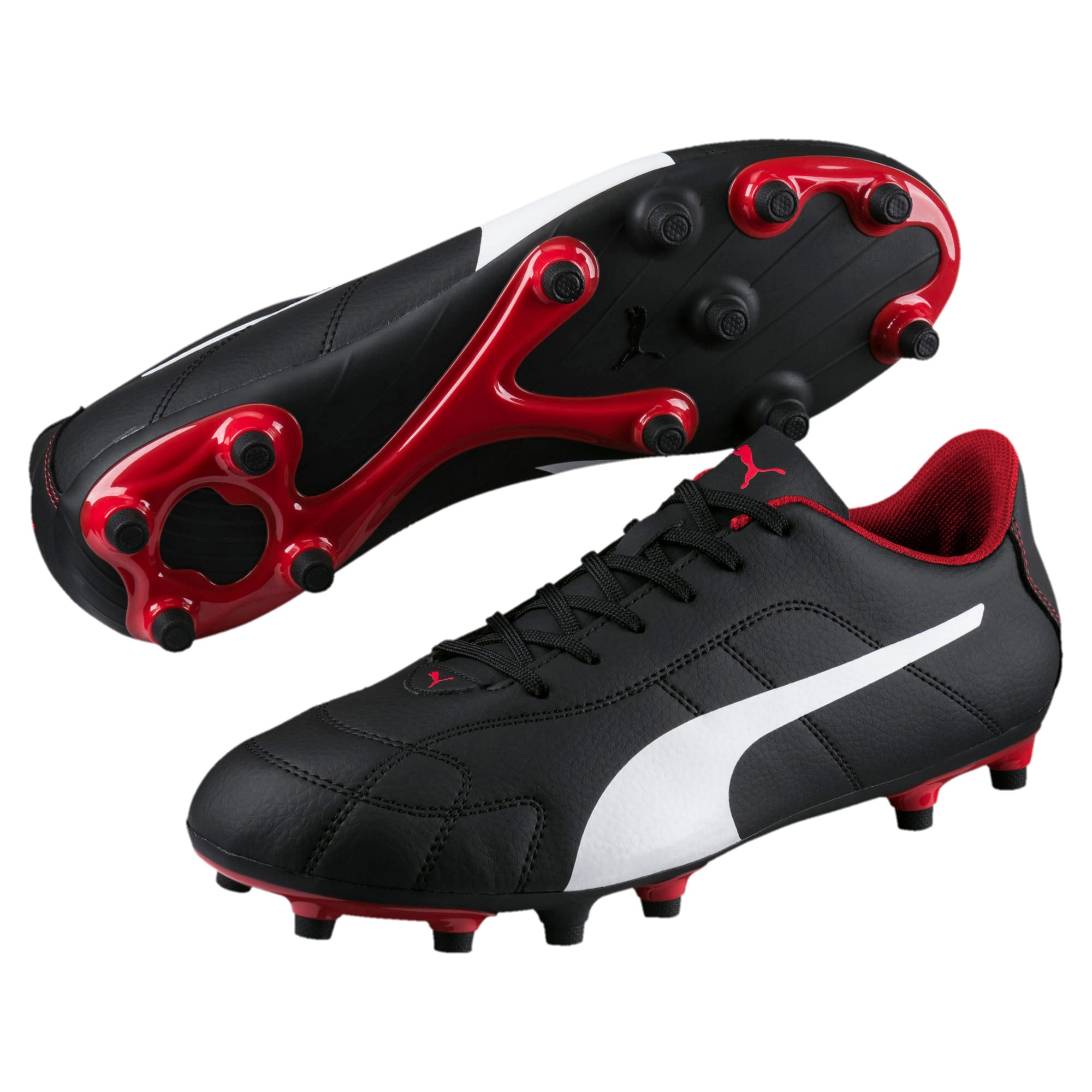 Thumbnail 2 of Classico C Firm Ground Men's Football Boots, Black-White-Red, medium-IND