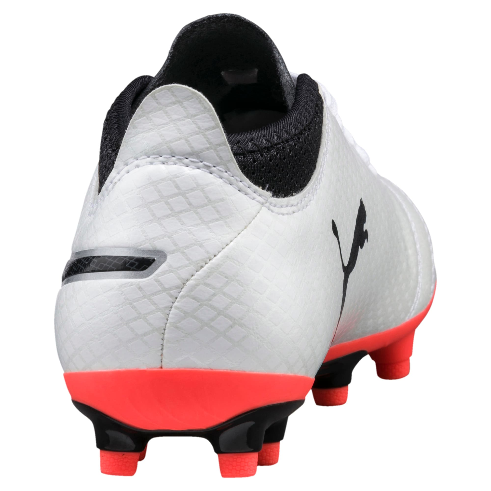 Thumbnail 3 of ONE 17.4 FG Kids' Football Boots, White-Black-Coral, medium-IND