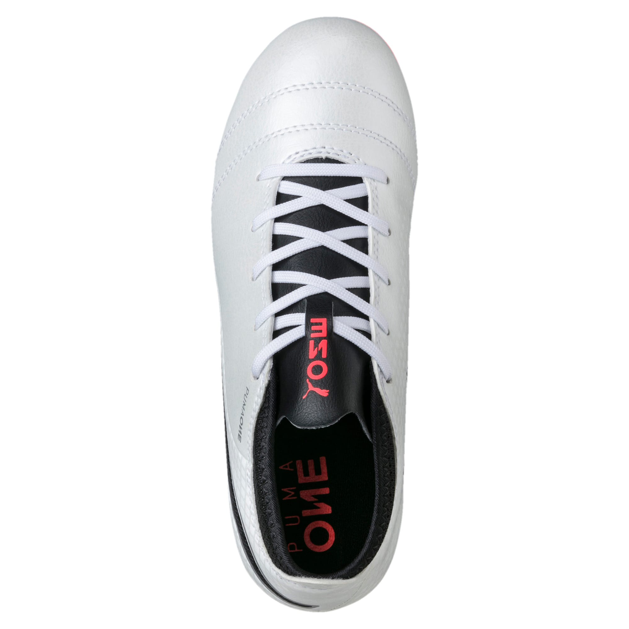 Thumbnail 5 of ONE 17.4 FG Kids' Football Boots, White-Black-Coral, medium-IND