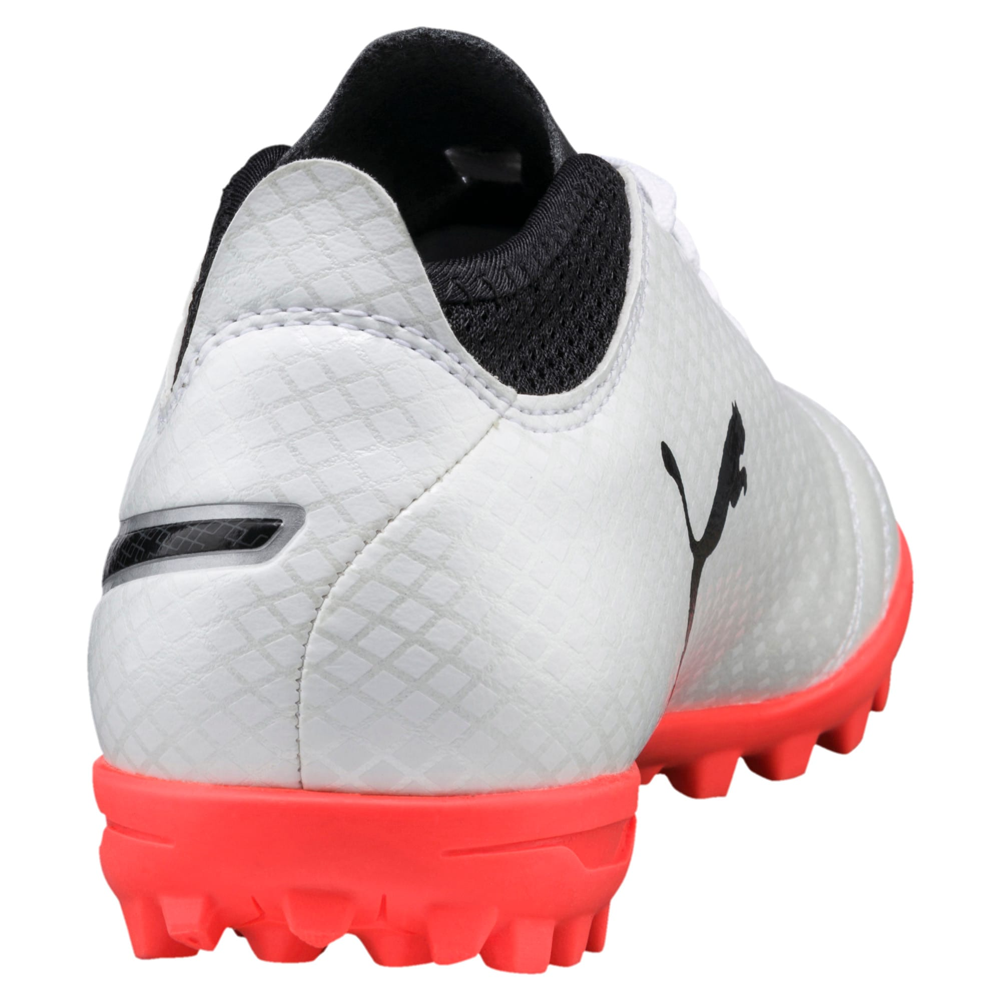 Thumbnail 3 of ONE 17.4 TT Kids' Football Boots, White-Black-Coral, medium-IND