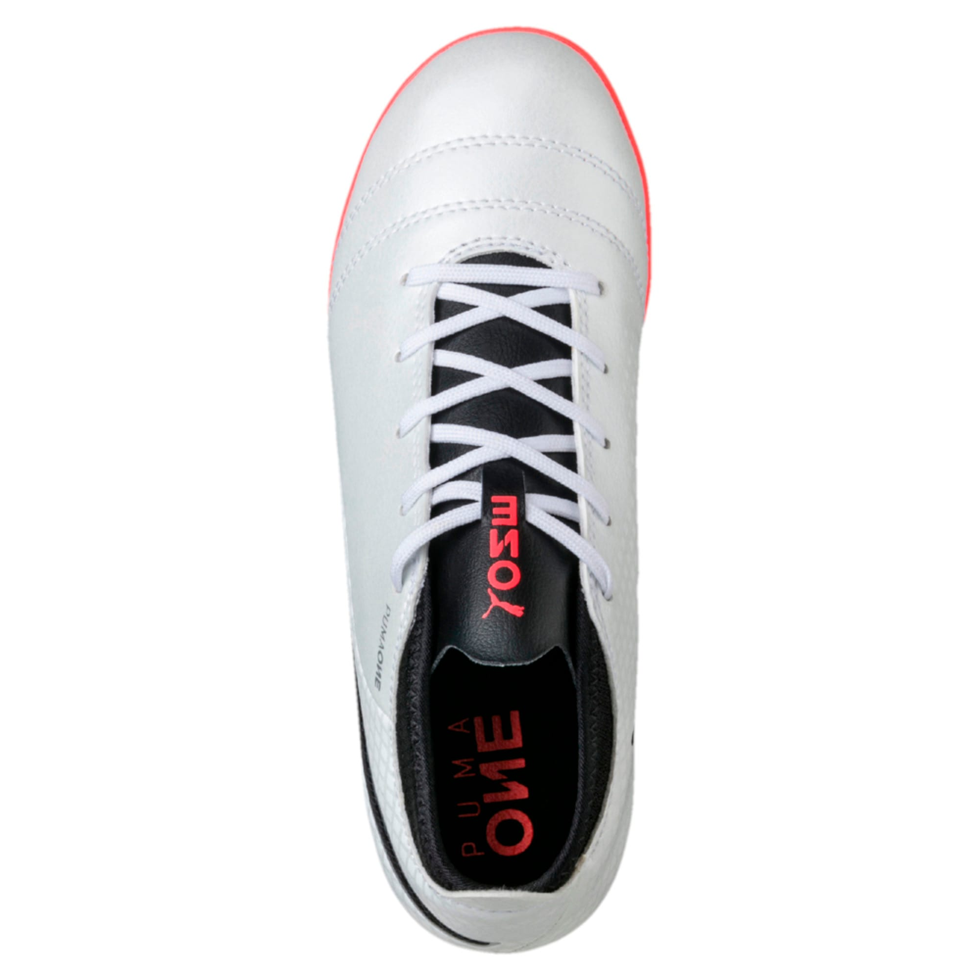 Thumbnail 2 of ONE 17.4 TT Kids' Football Boots, White-Black-Coral, medium-IND