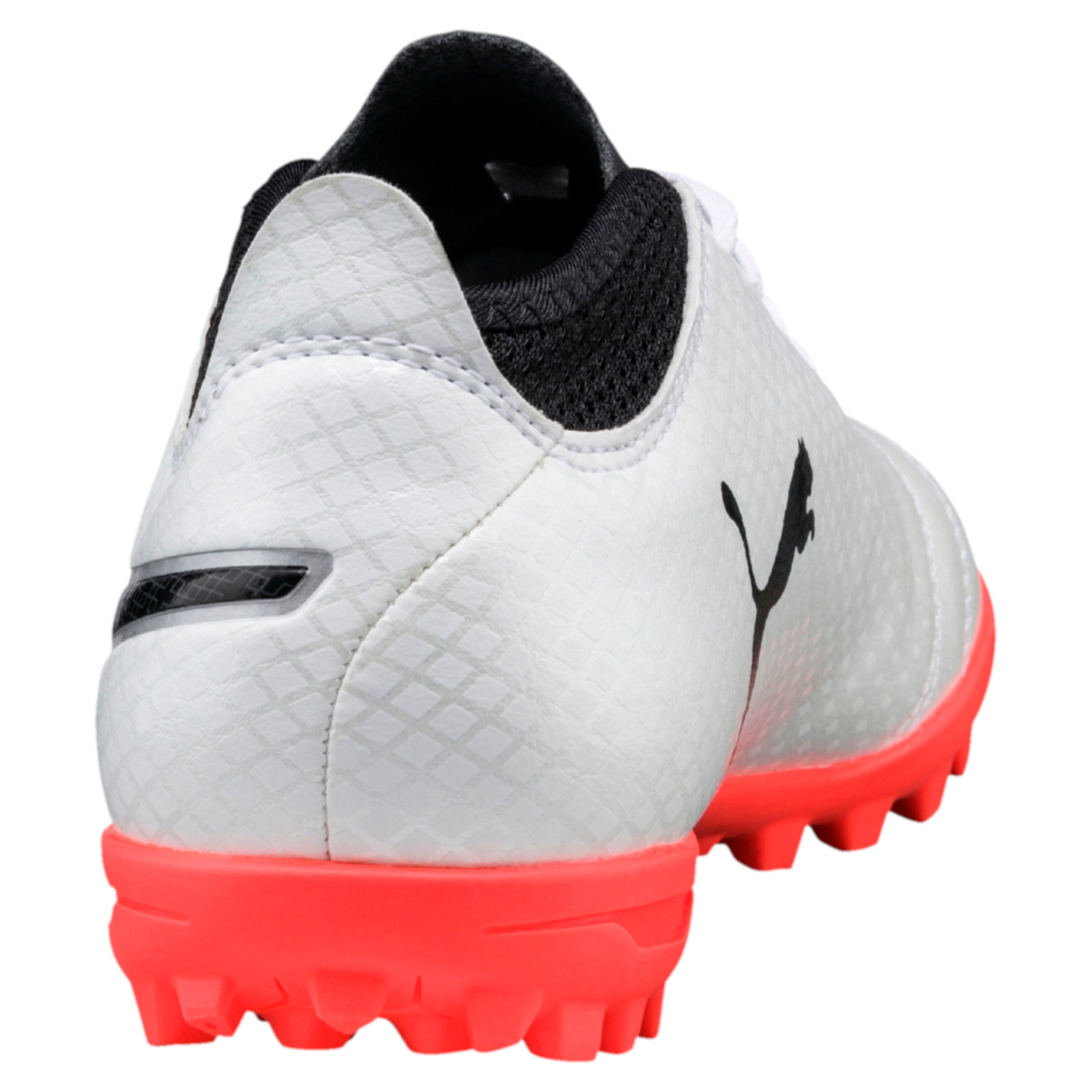 Thumbnail 6 of ONE 17.4 TT Kids' Football Boots, White-Black-Coral, medium-IND
