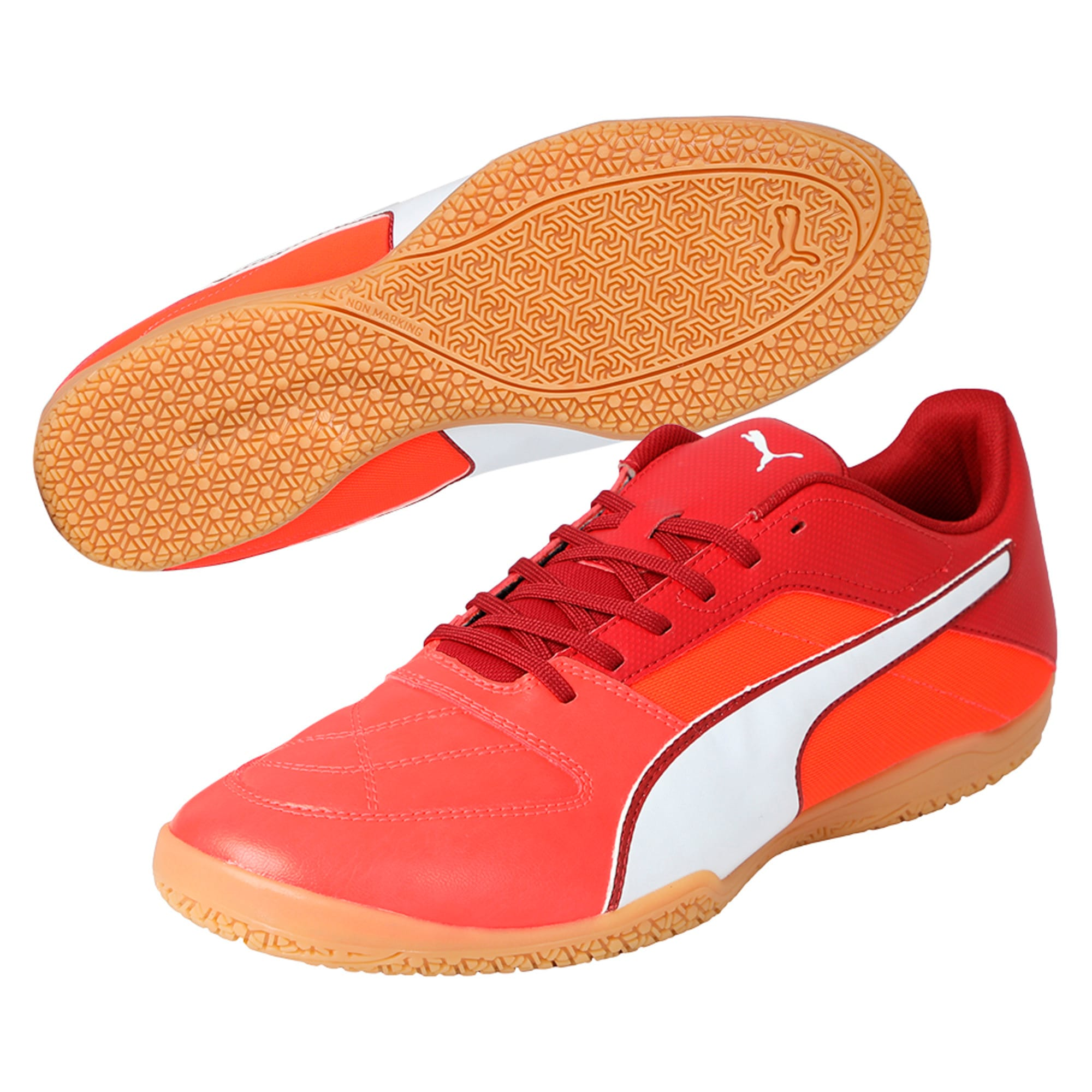 Thumbnail 2 of Gavetto II Men's Futsal Shoes, Red-White-Red Dahlia, medium-IND