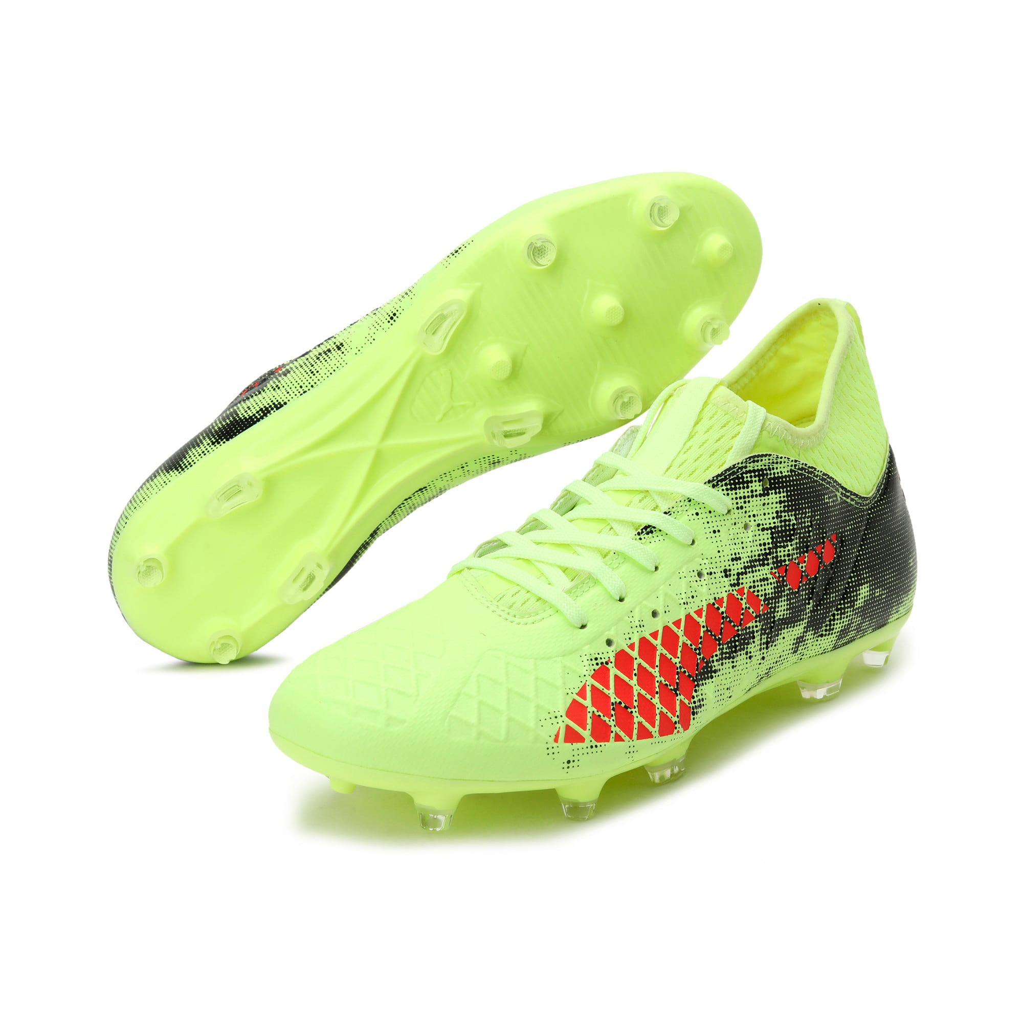 Thumbnail 2 of FUTURE 18.3 FG/AG Men's Football Boots, Yellow-Red-Black, medium-IND