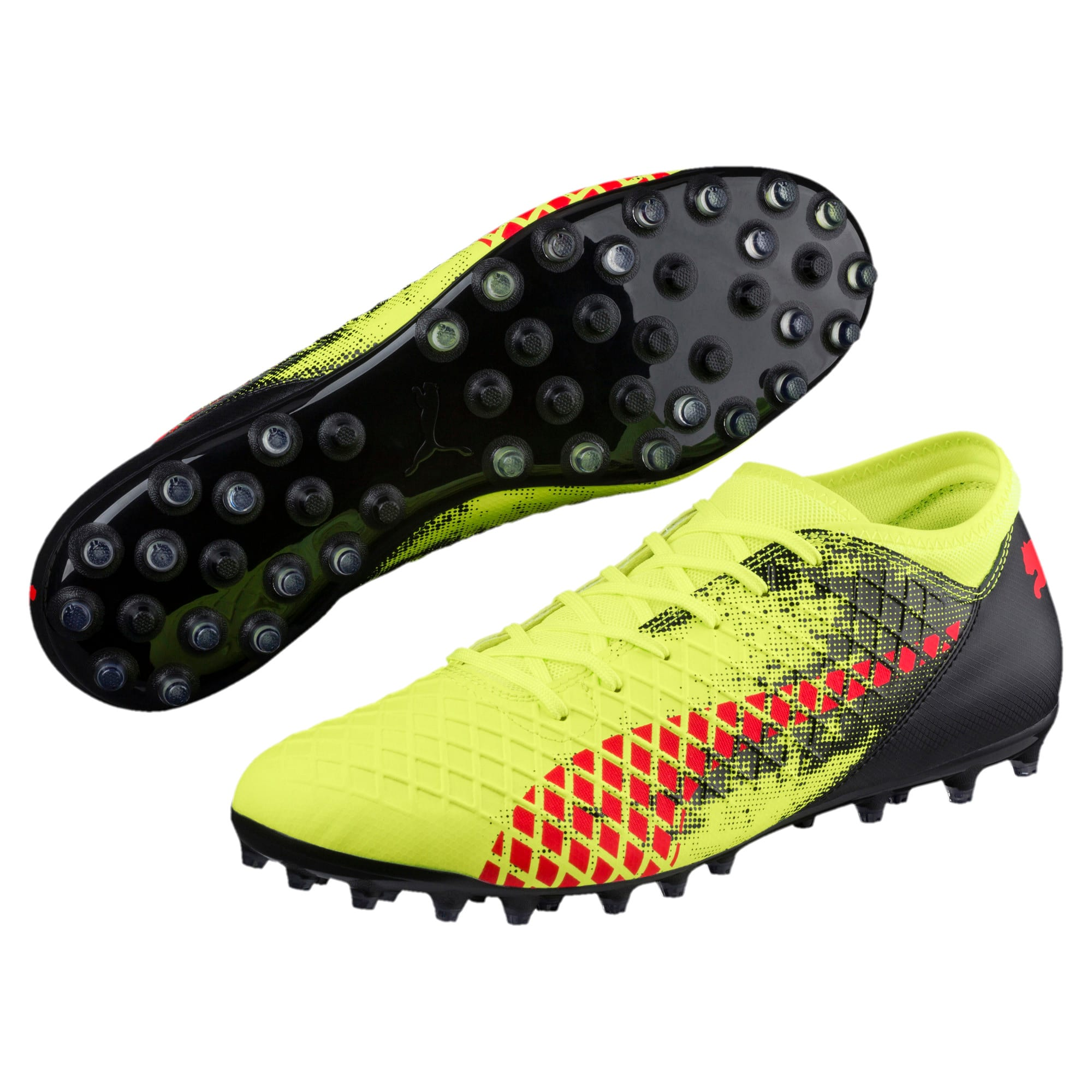 Thumbnail 2 of FUTURE 18.4 MG Men's Football Boots, Yellow-Red-Black, medium-IND