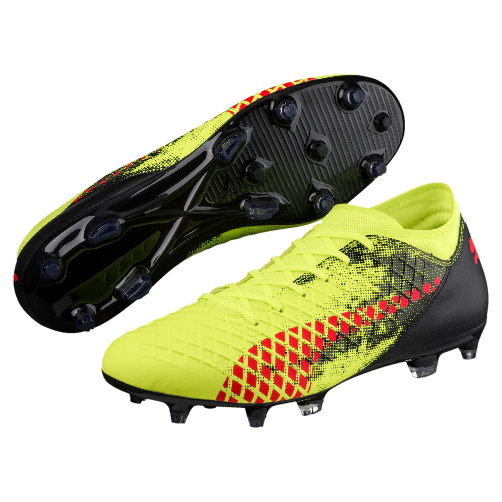 Thumbnail 2 of FUTURE 18.4 FG/AG Men's Football Boots, Yellow-Red-Black, medium-IND