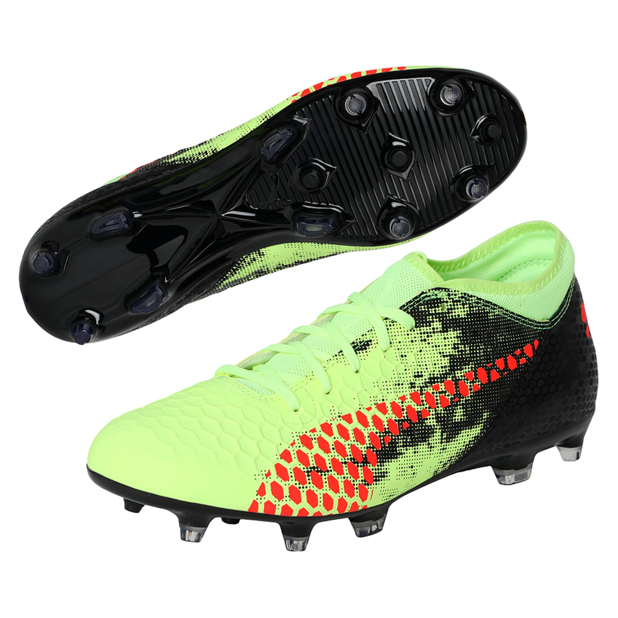 Thumbnail 6 of FUTURE 18.4 FG/AG Men's Football Boots, Yellow-Red-Black, medium-IND
