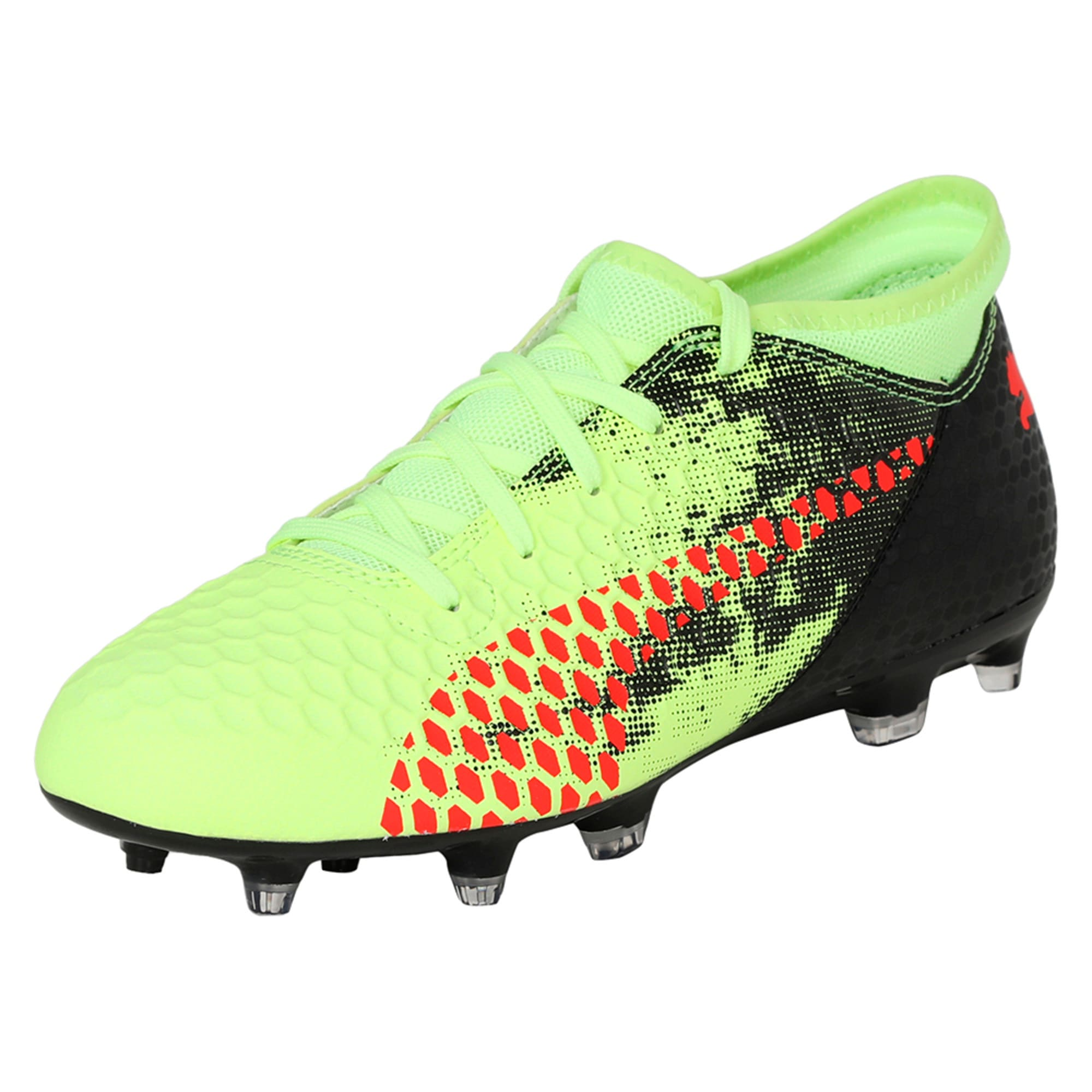 Thumbnail 1 of FUTURE 18.4 FG/AG Jr Football Boots, Yellow-Red-Black, medium-IND