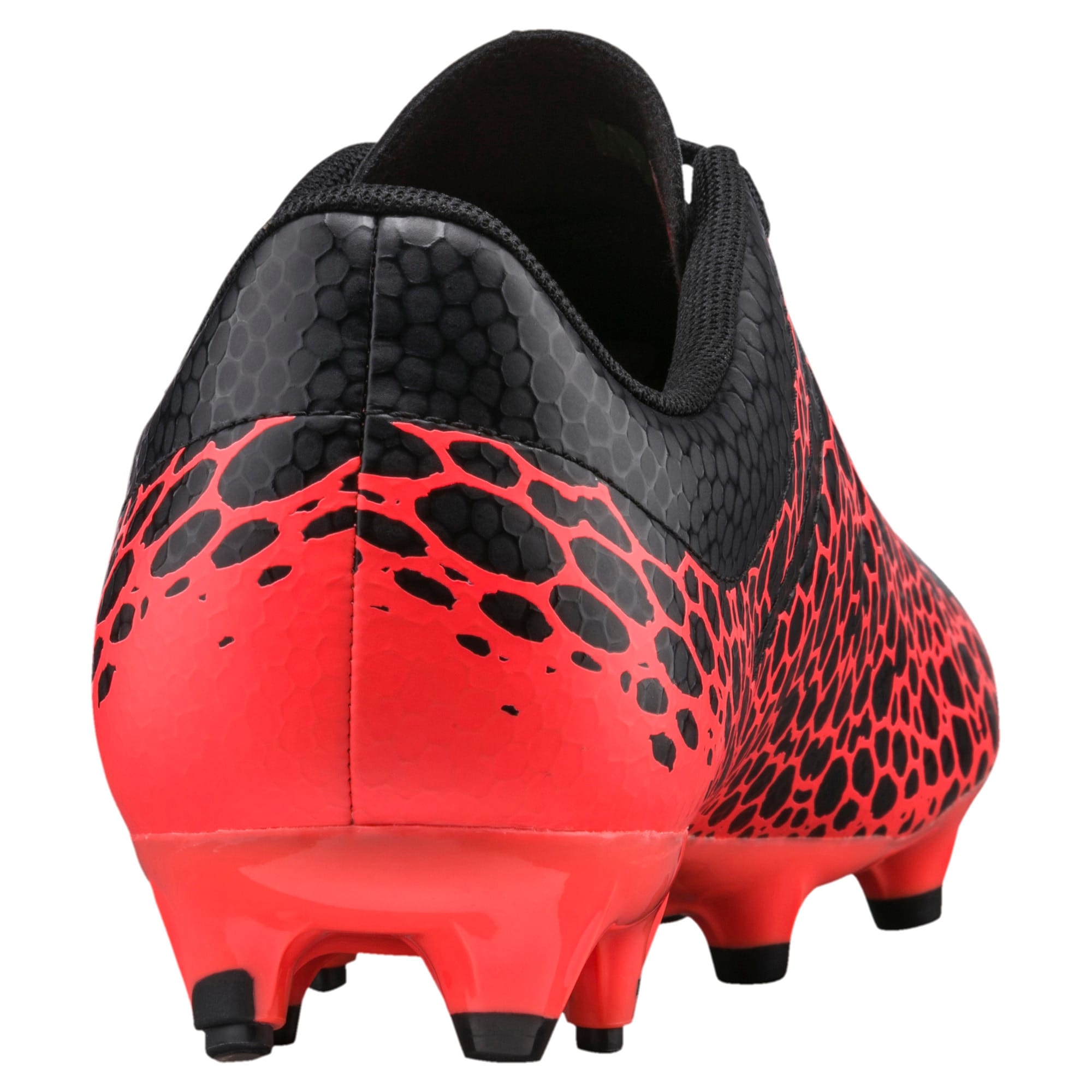 Thumbnail 3 of evoPOWER Vigor 4 Graphic FG Men's Football Boots, Black-Silver-Fiery Coral, medium-IND