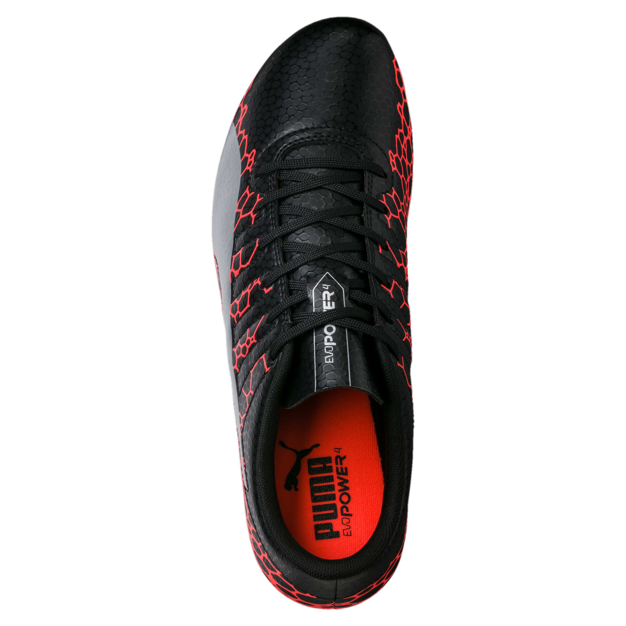 Thumbnail 5 of evoPOWER Vigor 4 Graphic FG Men's Football Boots, Black-Silver-Fiery Coral, medium-IND