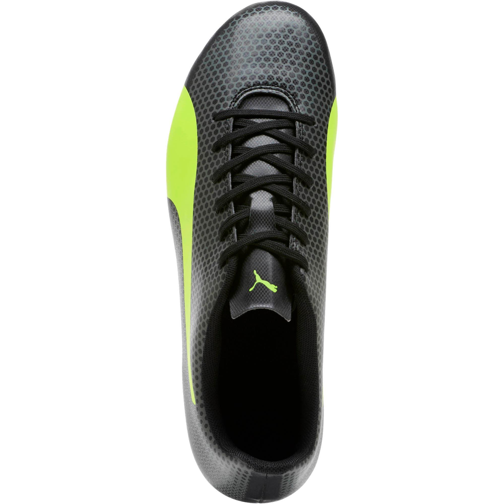 Thumbnail 5 of PUMA Spirit FG Firm Ground Men's Soccer Cleats, Black-Yellow-Gray, medium