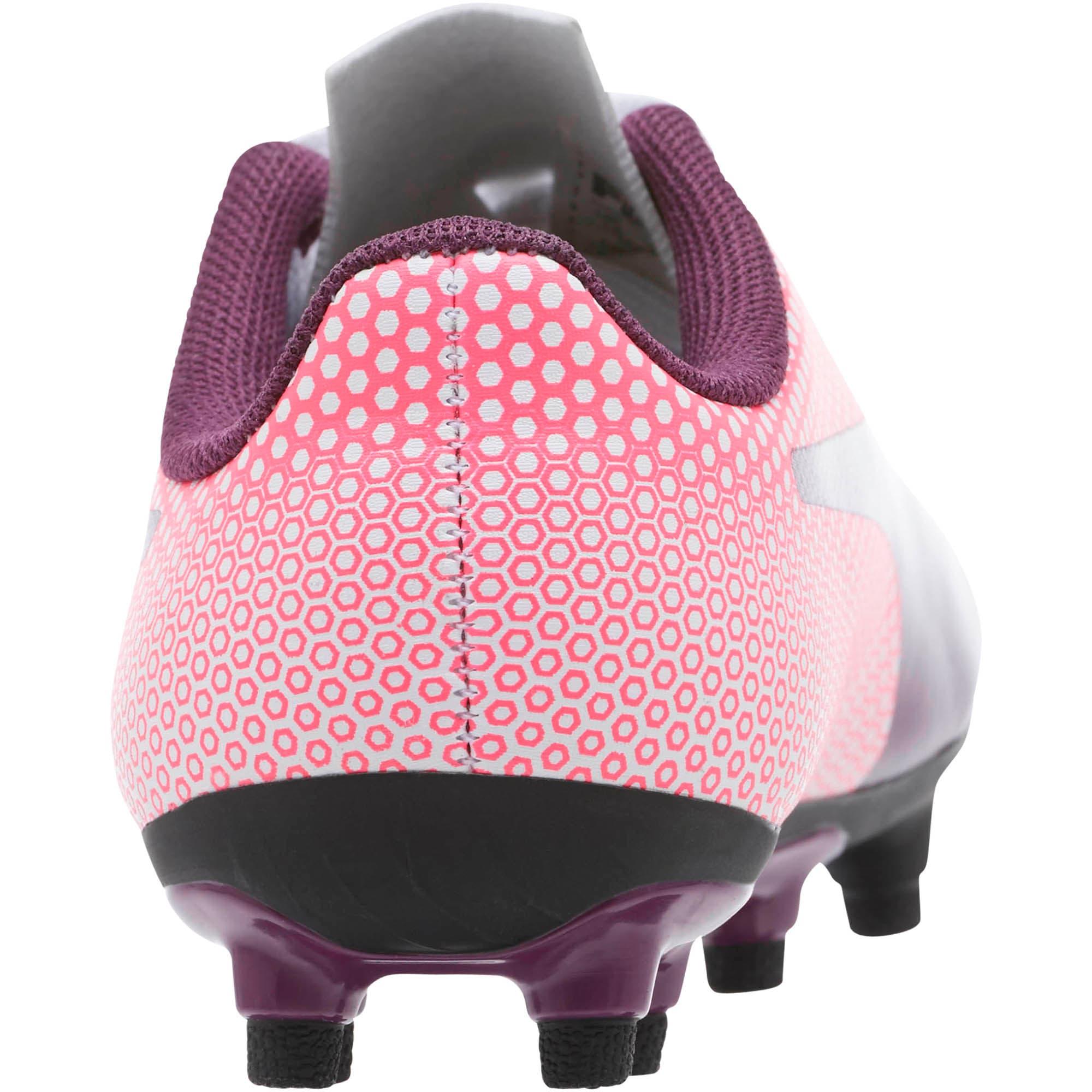 Thumbnail 4 of Spirit FG Soccer Cleats JR, White-Purple-Pink, medium