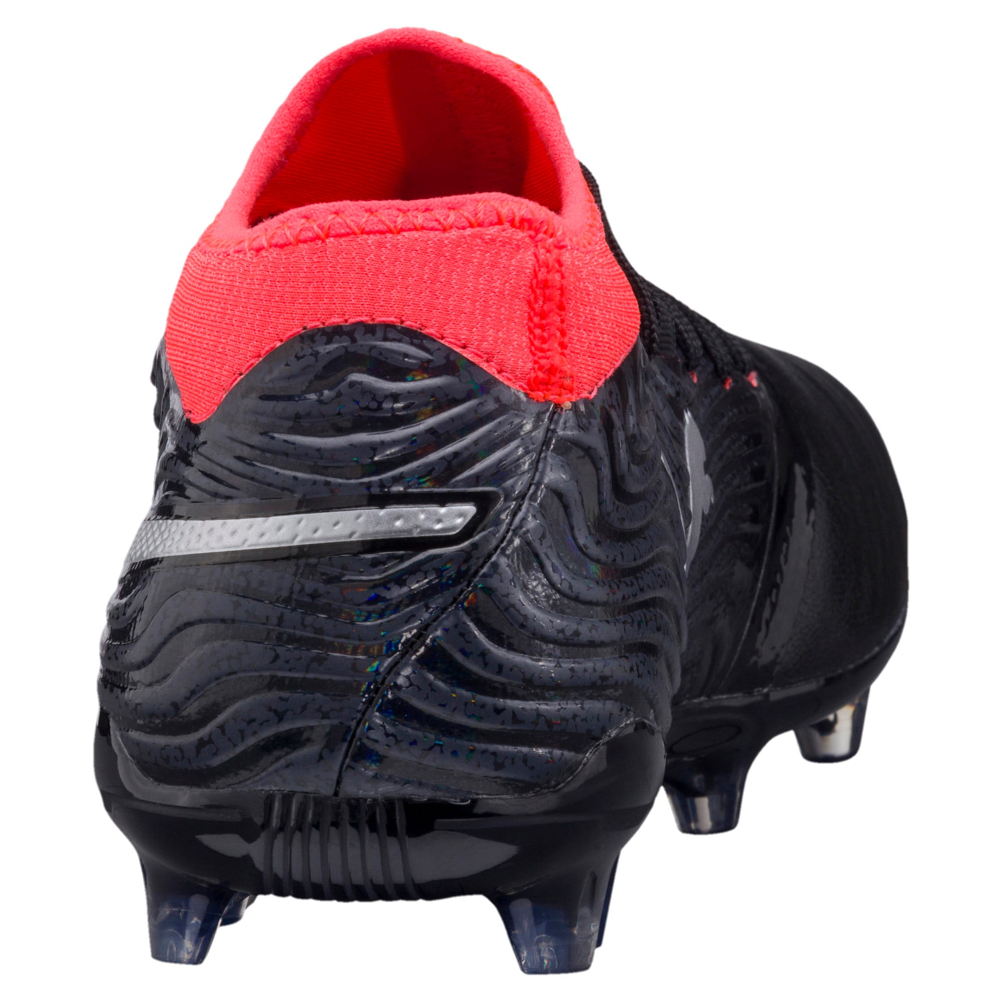 Thumbnail 4 of ONE 18.2 FG Men's Football Boots, Black-Silver-Red, medium-IND