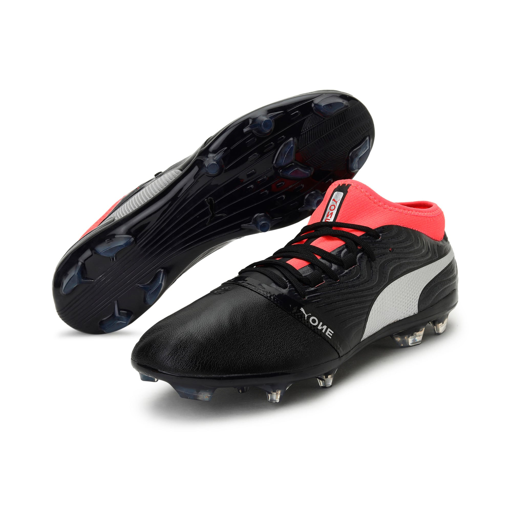 Thumbnail 2 of ONE 18.2 FG Men's Football Boots, Black-Silver-Red, medium-IND