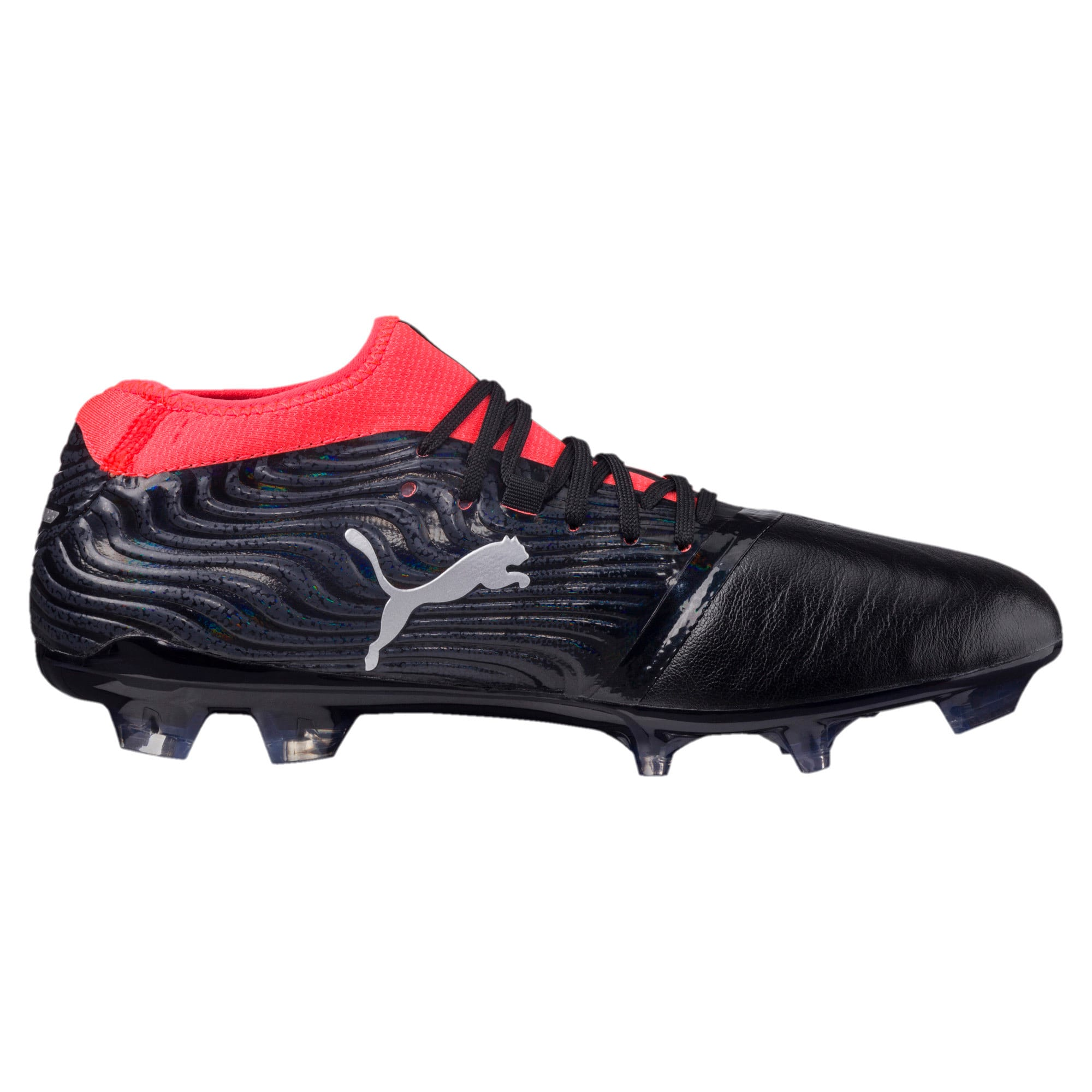Thumbnail 3 of ONE 18.2 FG Men's Football Boots, Black-Silver-Red, medium-IND