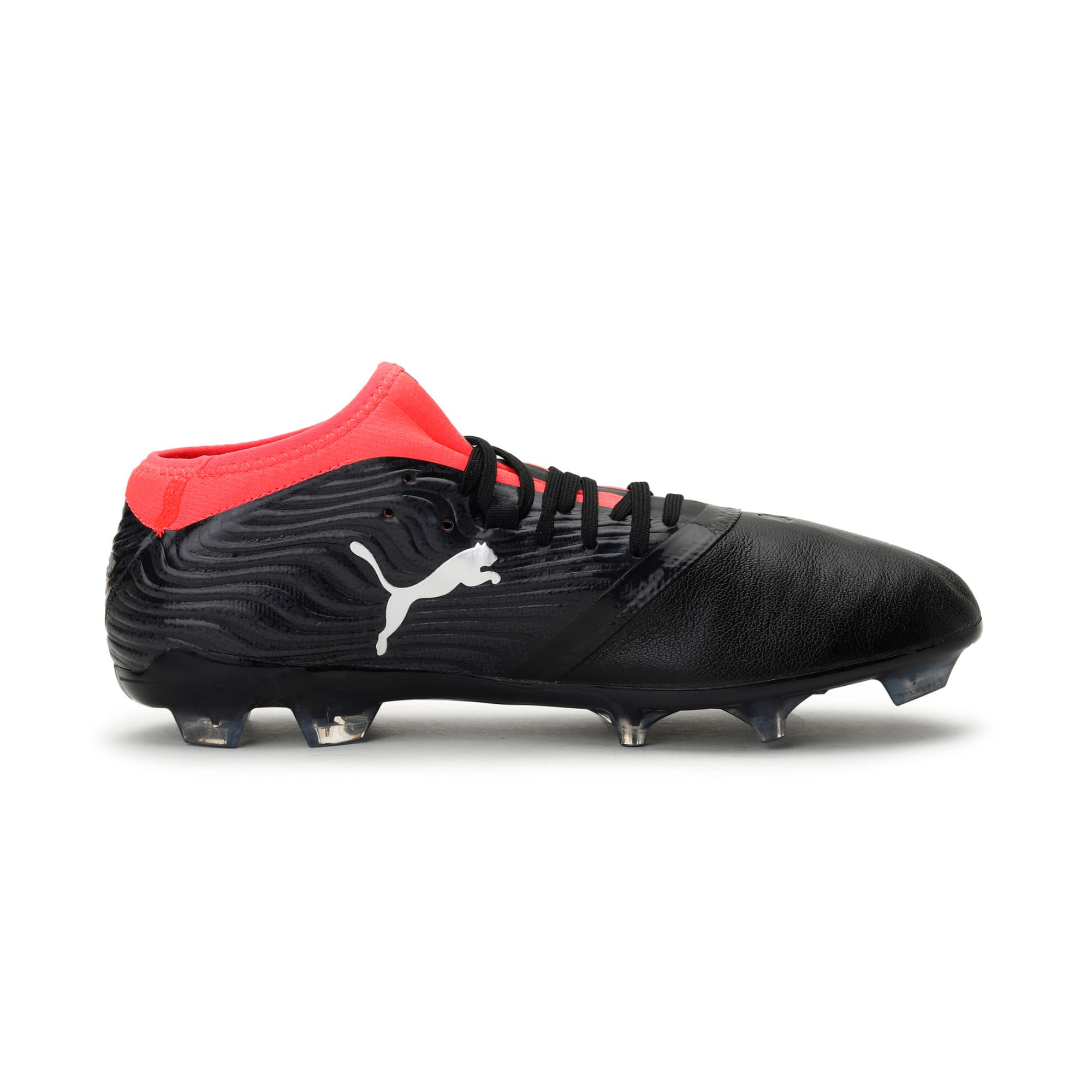 Thumbnail 5 of ONE 18.2 FG Men's Football Boots, Black-Silver-Red, medium-IND