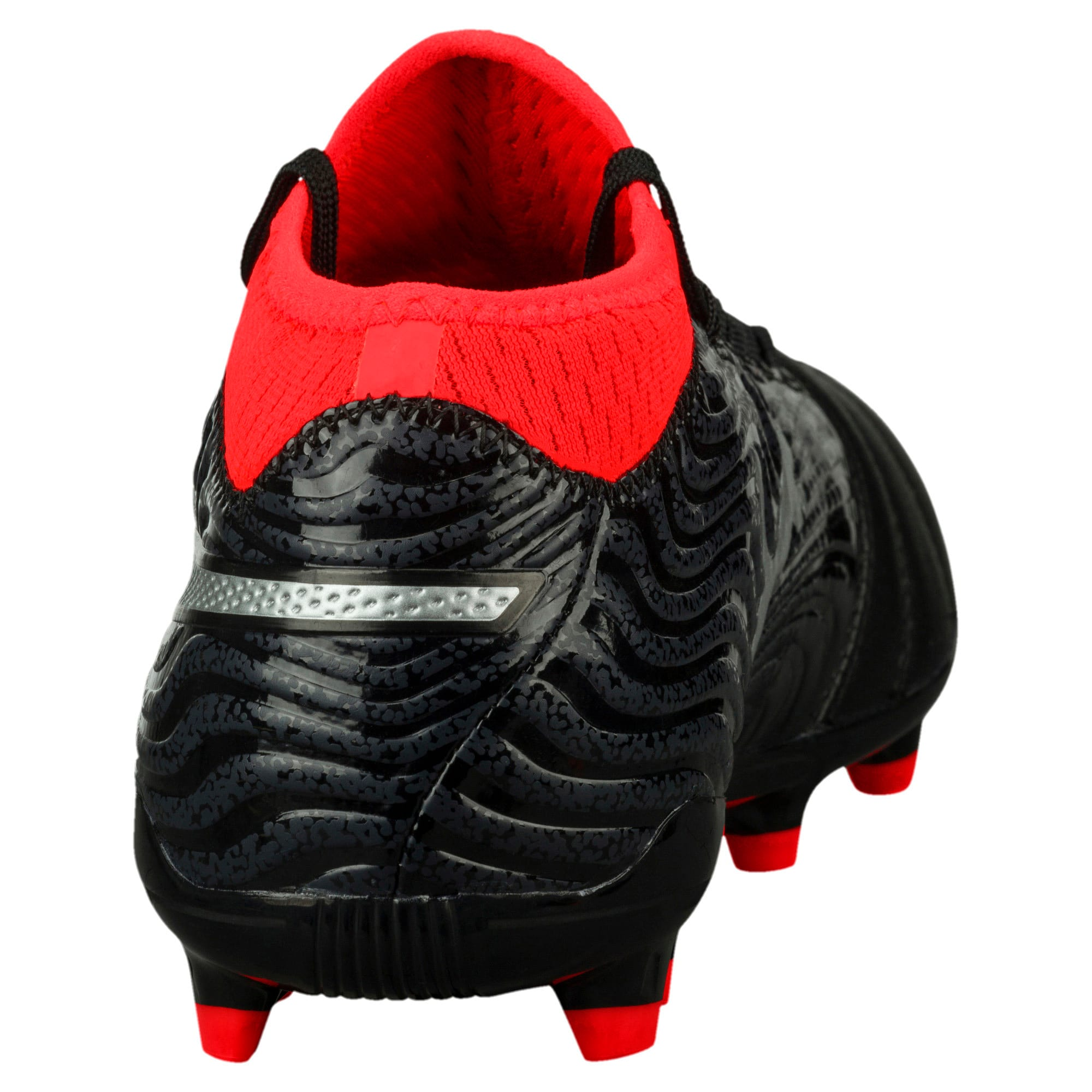 Thumbnail 3 of ONE 18.3 FG Men's Football Boots, Black-Silver-Red, medium-IND