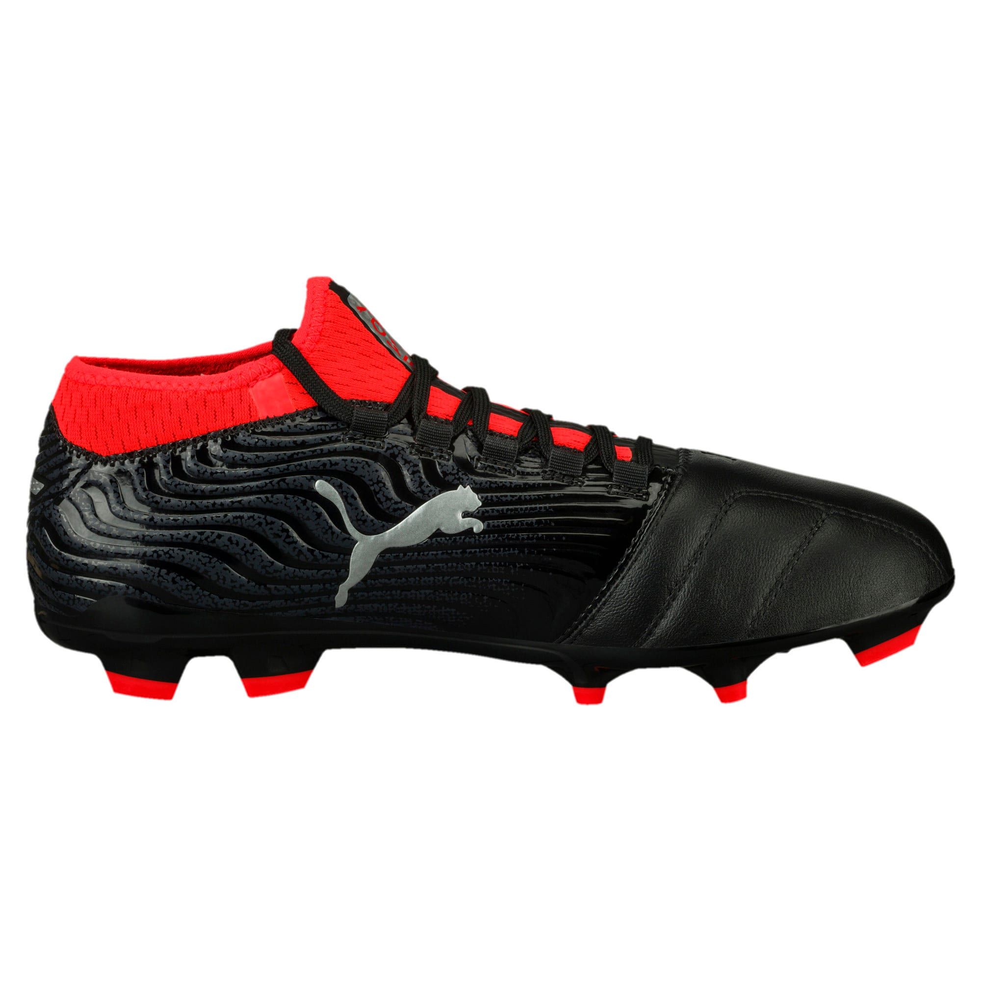 Thumbnail 4 of ONE 18.3 FG Men's Football Boots, Black-Silver-Red, medium-IND