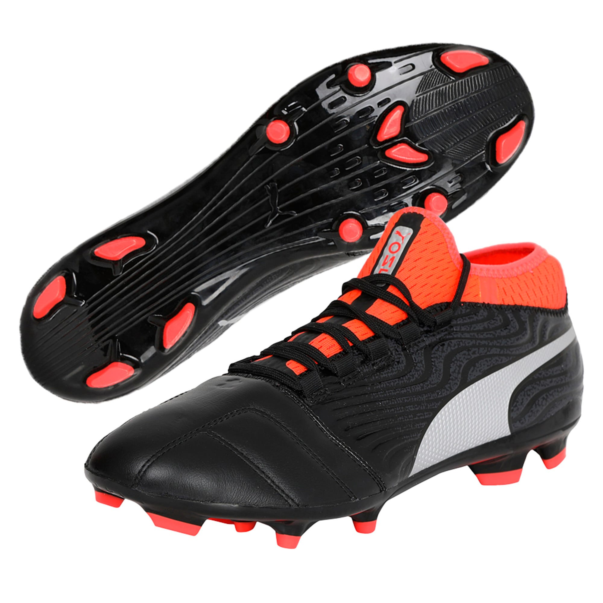 Thumbnail 6 of ONE 18.3 FG Men's Football Boots, Black-Silver-Red, medium-IND