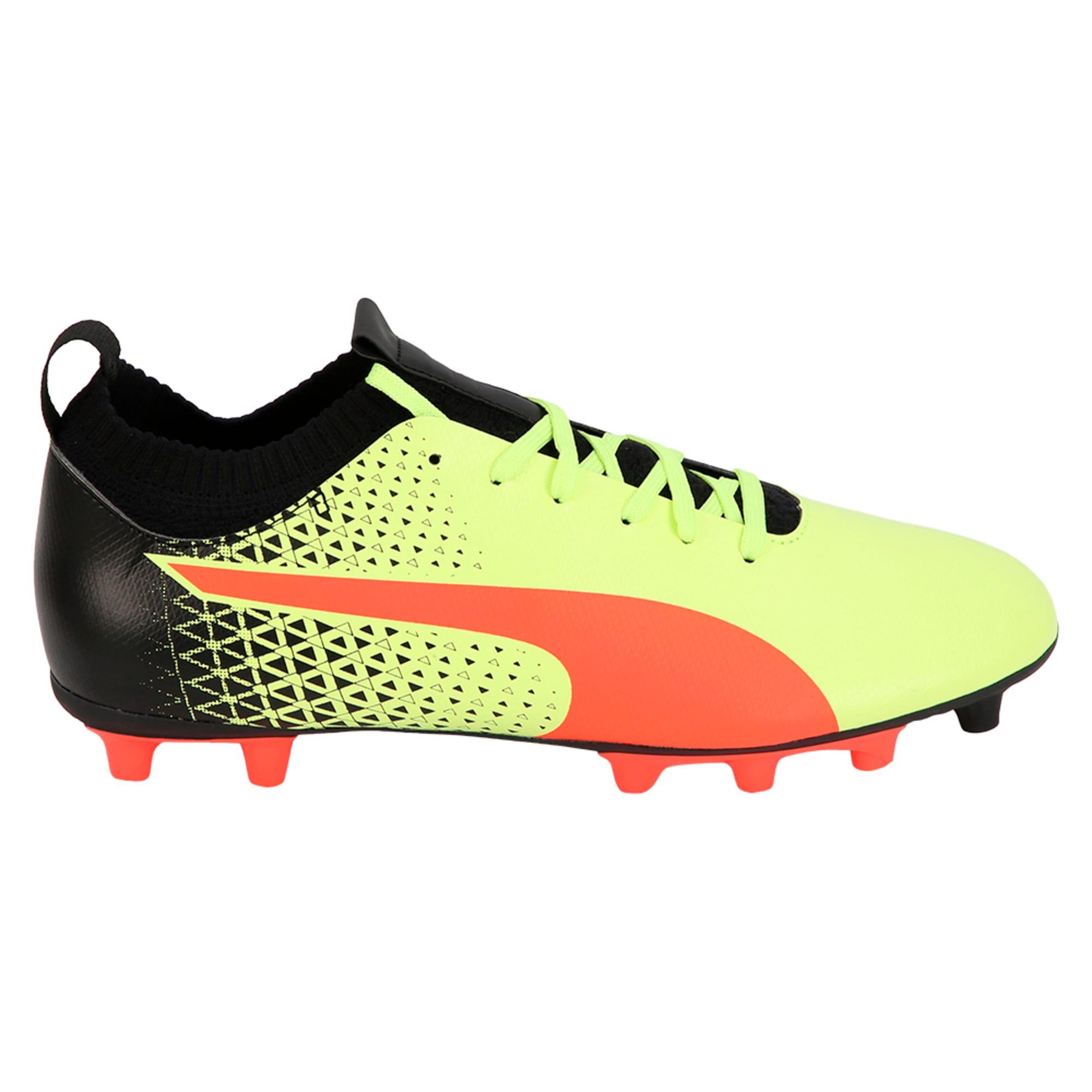Thumbnail 3 of evoKNIT FG Men's Football Boots, Yellow-Red-Black, medium-IND