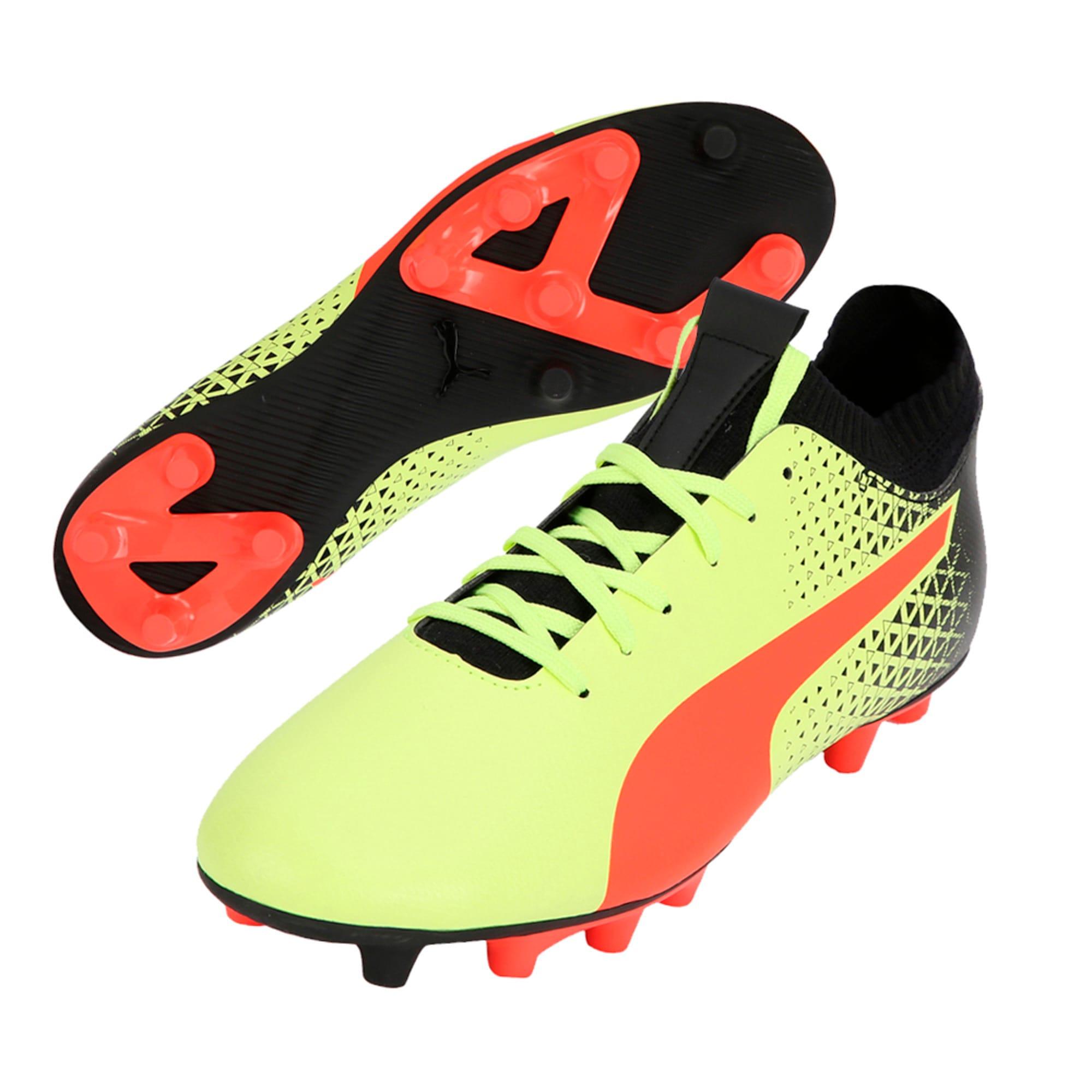 Thumbnail 6 of evoKNIT FG Men's Football Boots, Yellow-Red-Black, medium-IND
