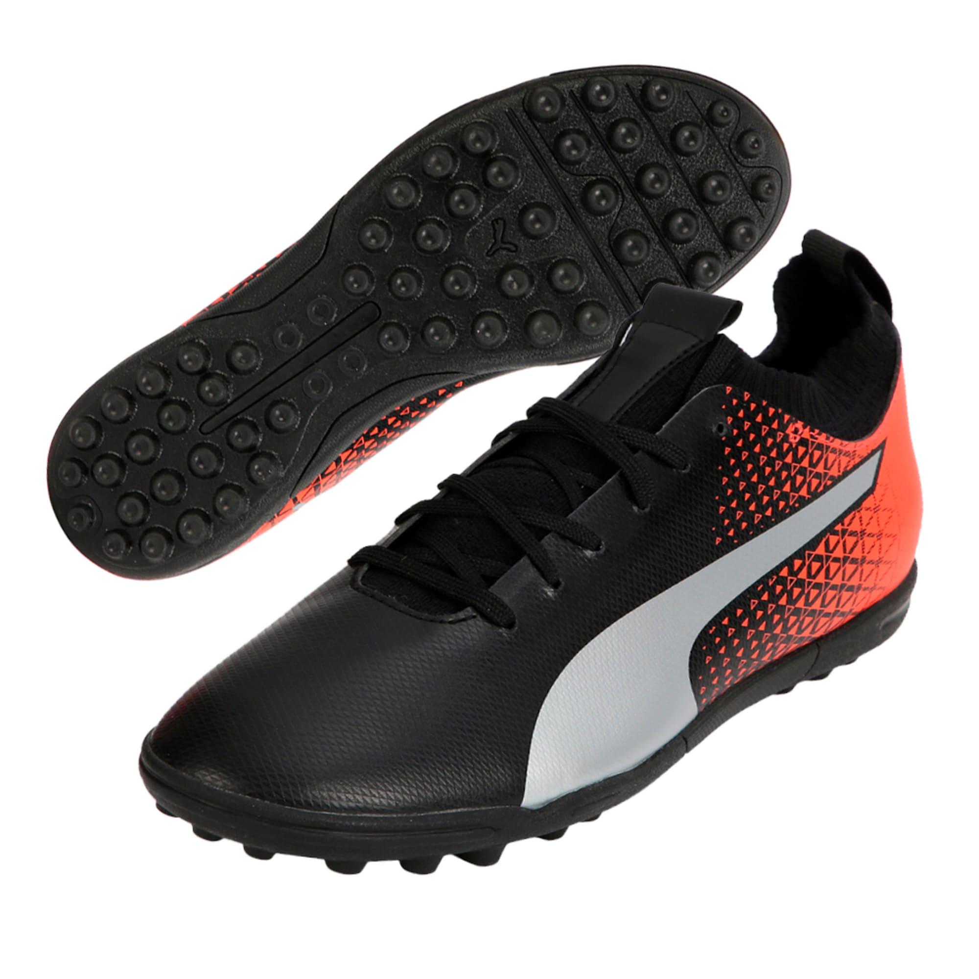 Thumbnail 2 of evoKNIT TT Men's Football Shoes, Black-Silver-Red, medium-IND