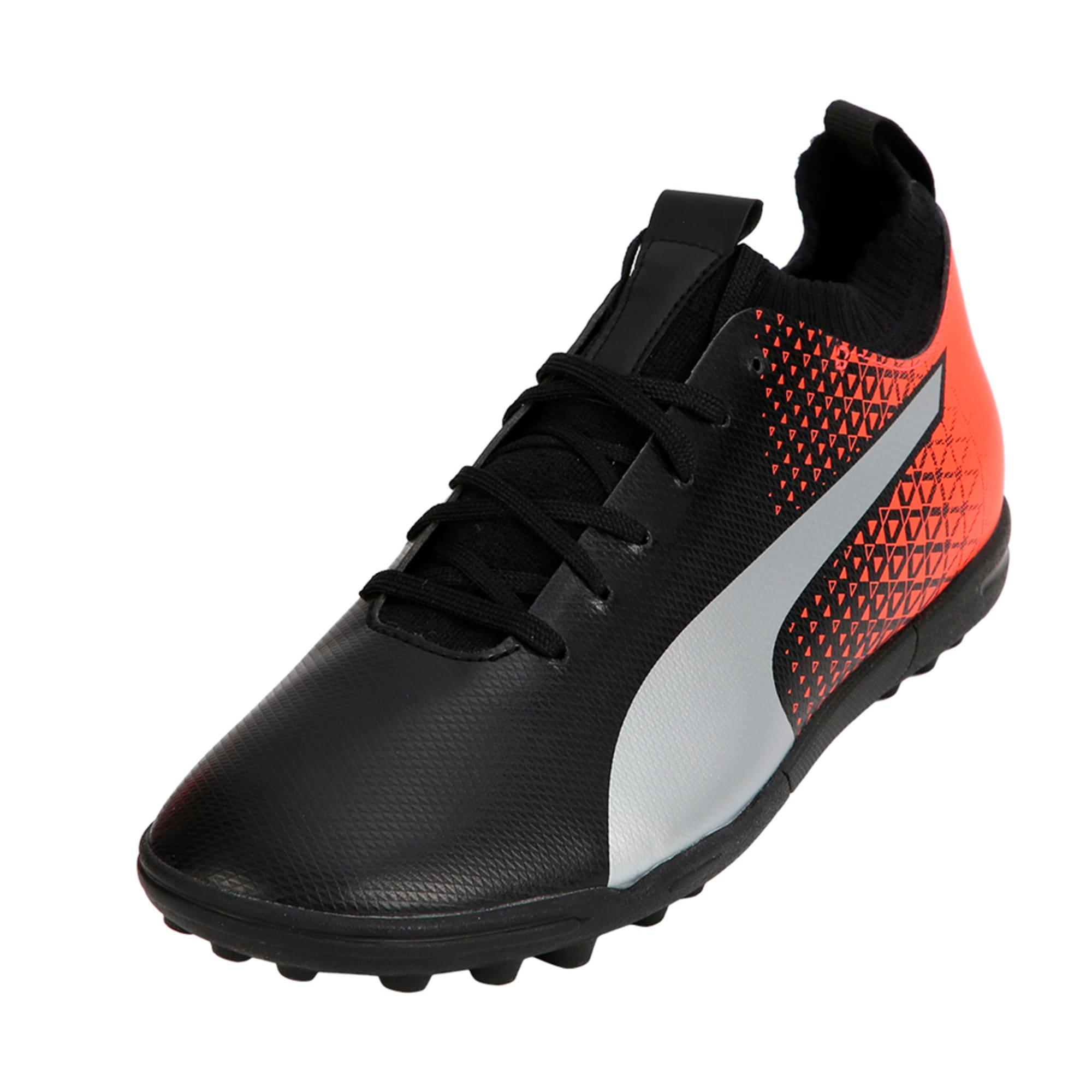 Thumbnail 1 of evoKNIT TT Men's Football Shoes, Black-Silver-Red, medium-IND