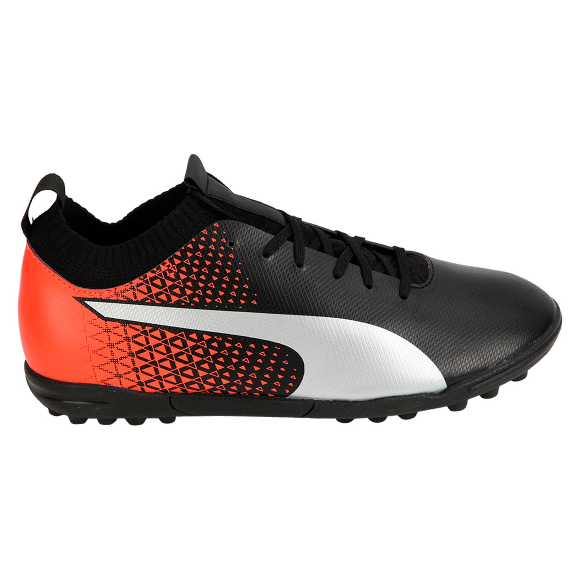 Thumbnail 5 of evoKNIT TT Men's Football Shoes, Black-Silver-Red, medium-IND