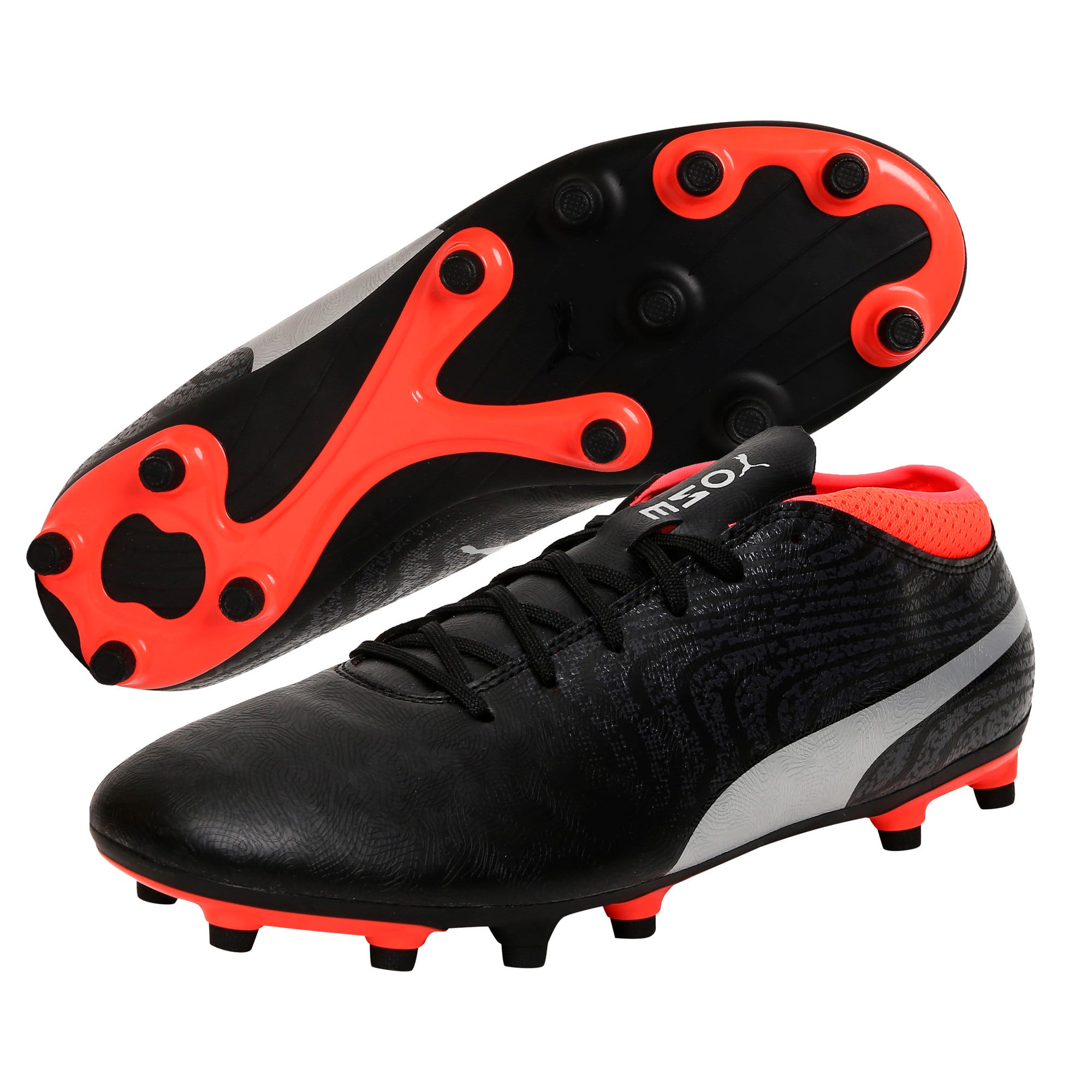 Thumbnail 2 of ONE 18.4 FG Men's Football Boots, Black-Silver-Red, medium-IND