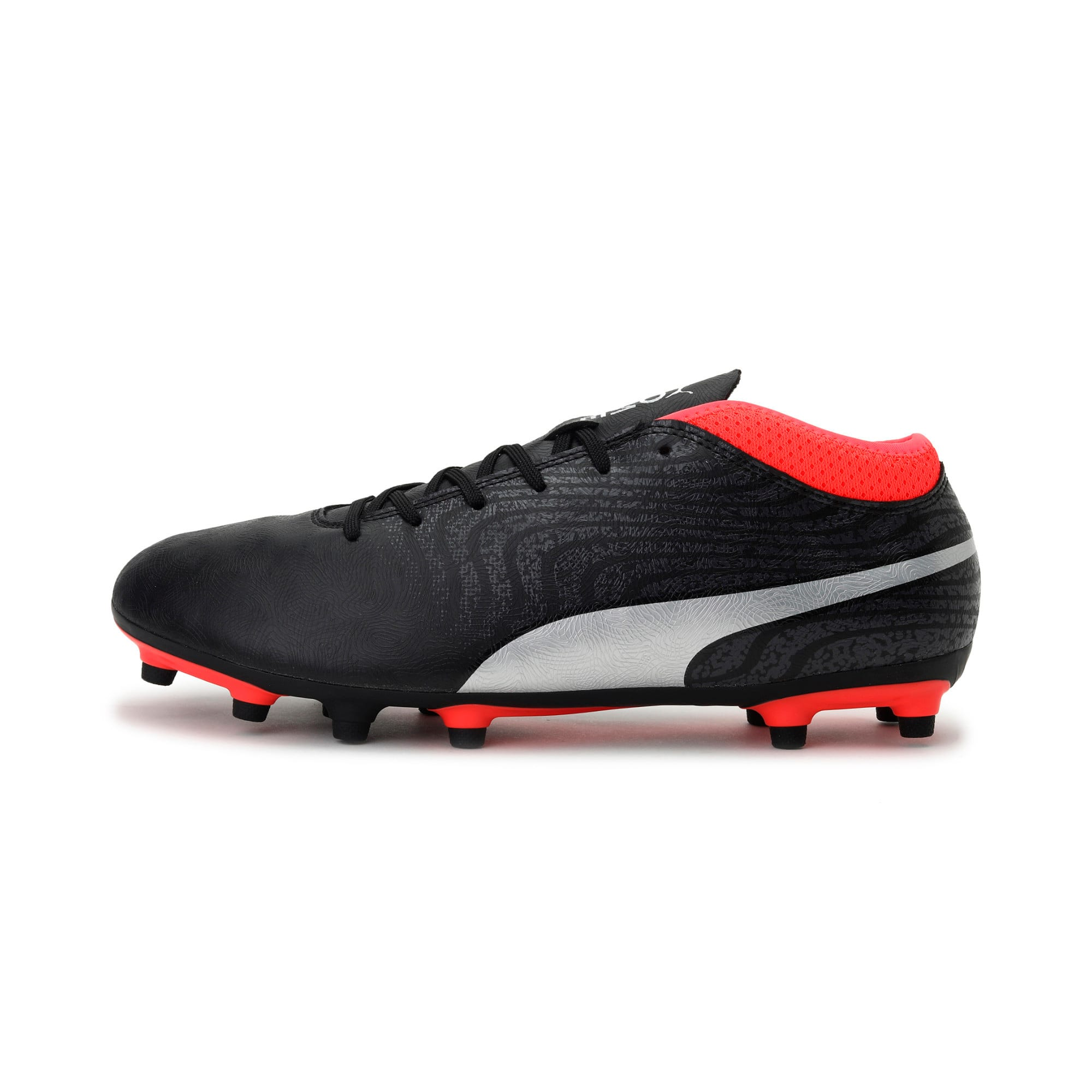 Thumbnail 1 of ONE 18.4 FG Men's Football Boots, Black-Silver-Red, medium-IND