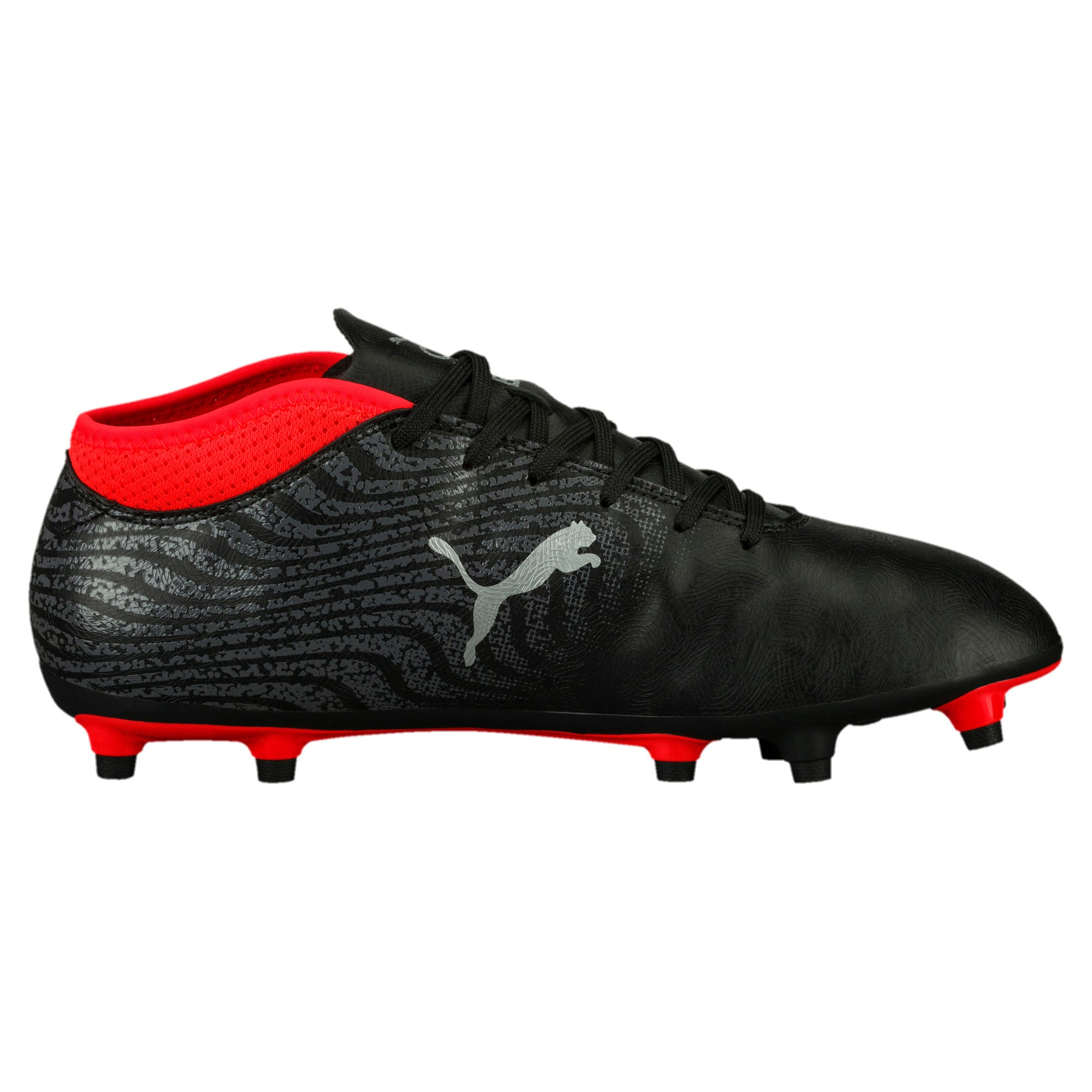 Thumbnail 4 of ONE 18.4 FG Men's Football Boots, Black-Silver-Red, medium-IND