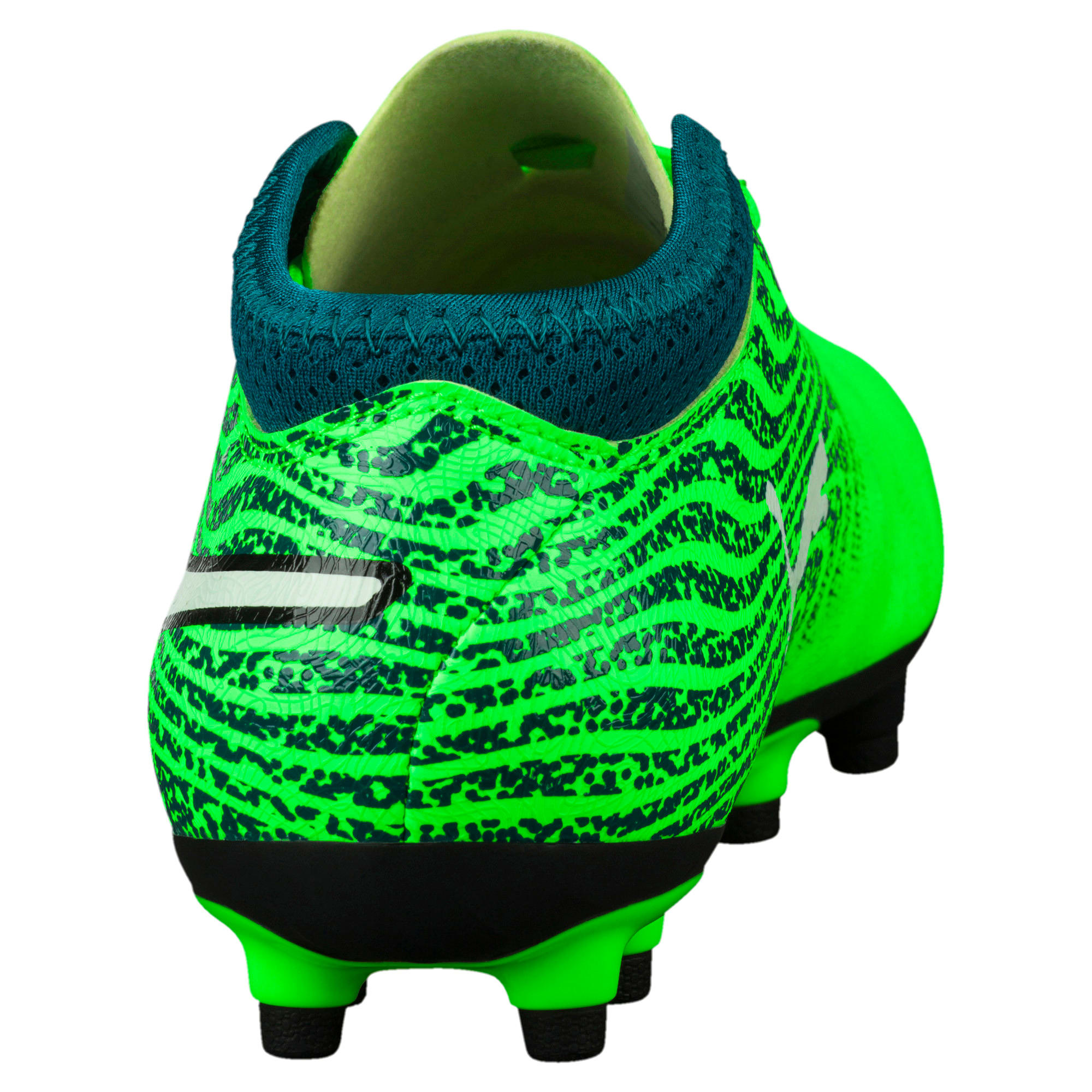 Thumbnail 4 of ONE 18.4 FG Kids' Football Boots, Green-White-Deep Lagoon, medium-IND