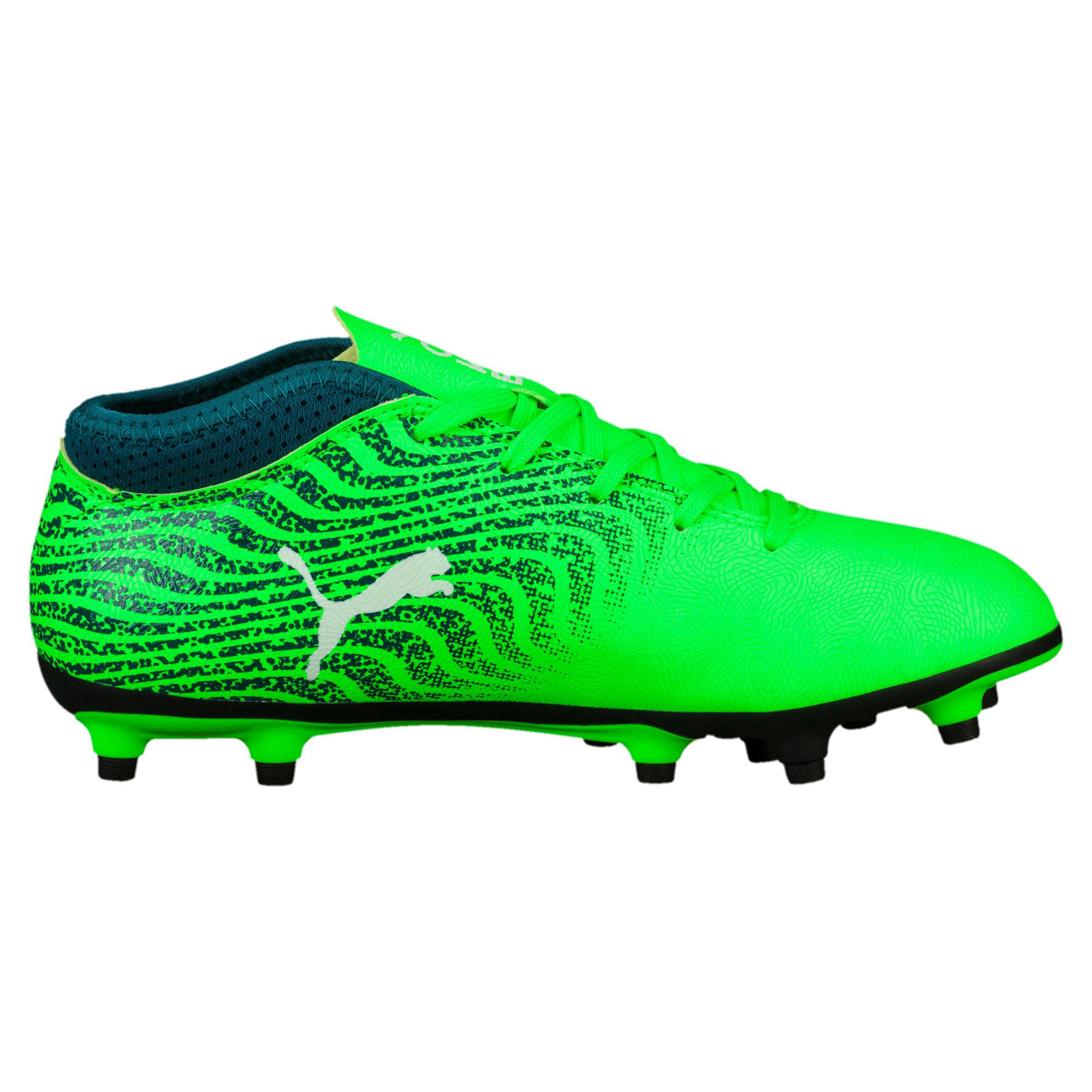 Thumbnail 3 of ONE 18.4 FG Kids' Football Boots, Green-White-Deep Lagoon, medium-IND