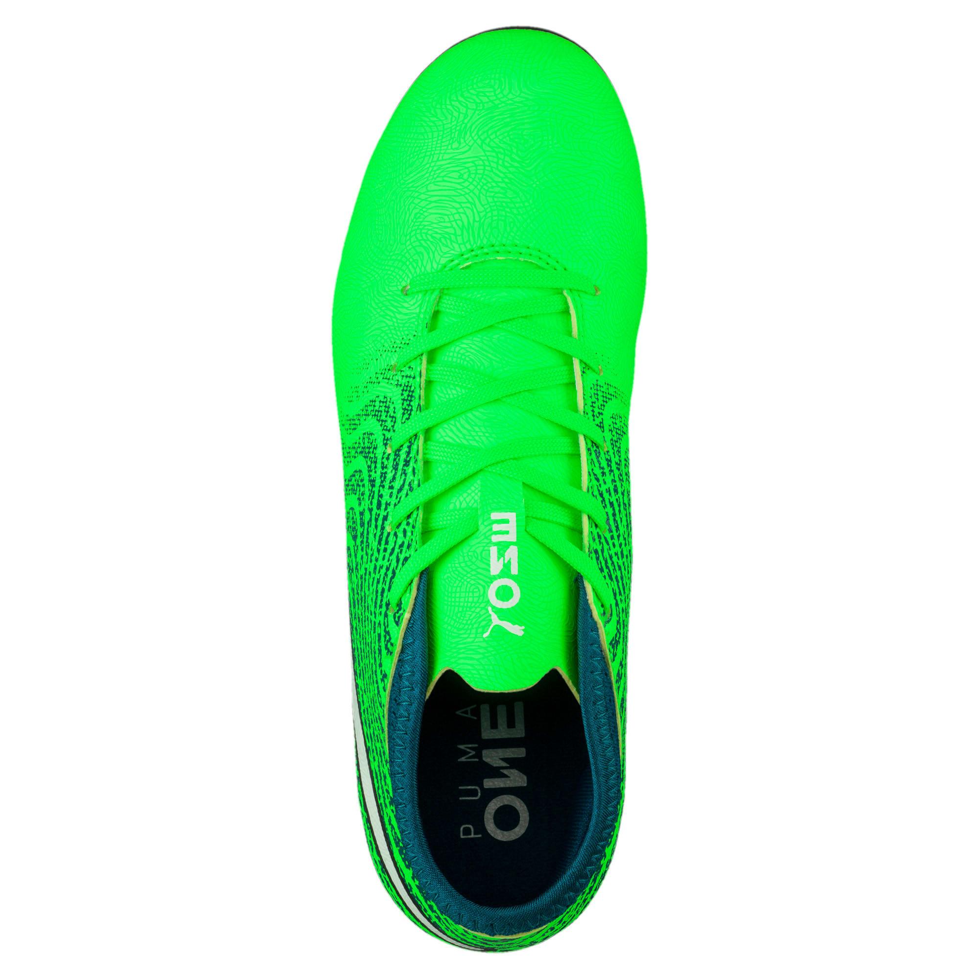 Thumbnail 5 of ONE 18.4 FG Kids' Football Boots, Green-White-Deep Lagoon, medium-IND