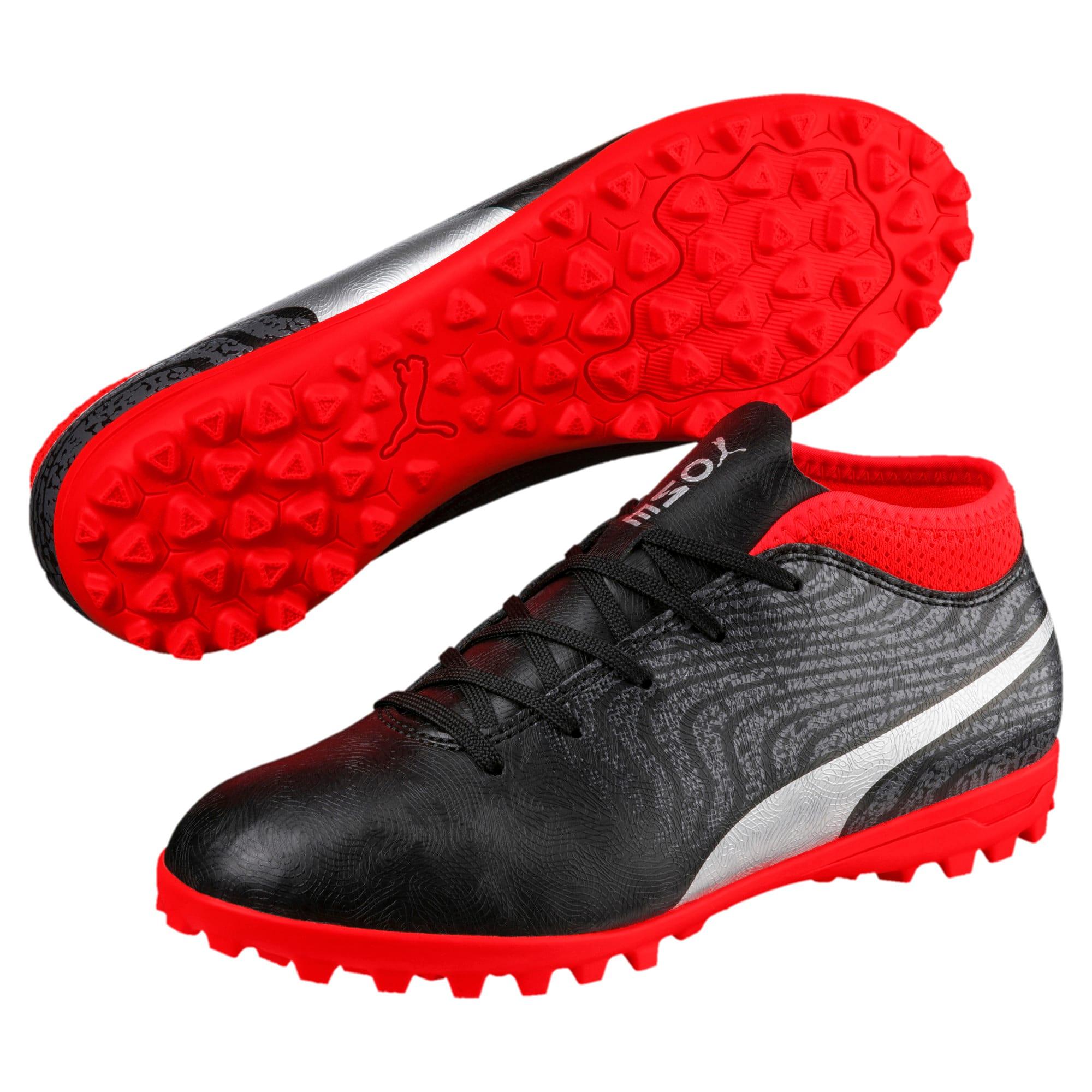 Thumbnail 2 of ONE 18.4 TT Jr Football Boots, Black-Silver-Red, medium-IND
