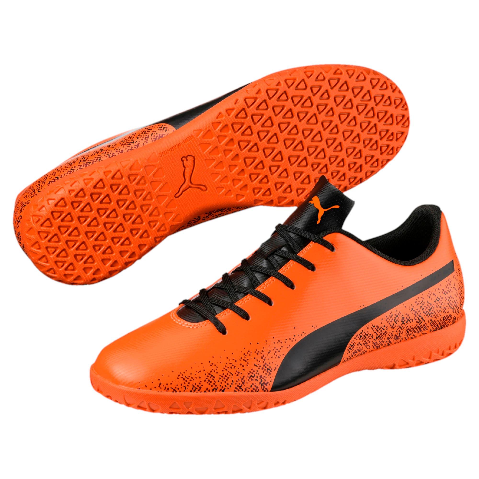 Thumbnail 6 of Truora IT Men's Indoor Training Shoes, Orange-Black-Cordovan, medium-IND
