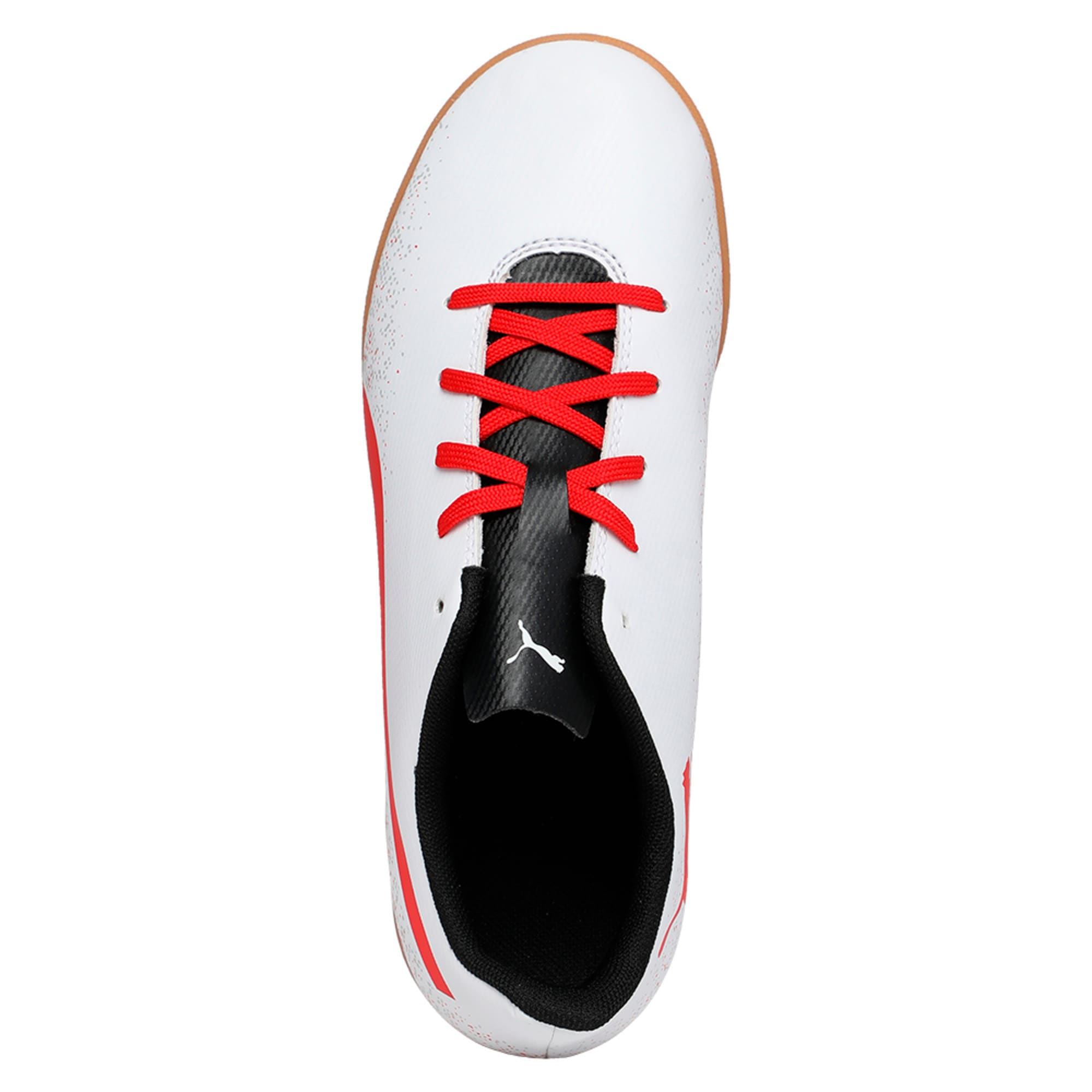 Thumbnail 3 of Truora IT Kids' Indoor Training Shoes, White-Flame Scarlet-Black, medium-IND