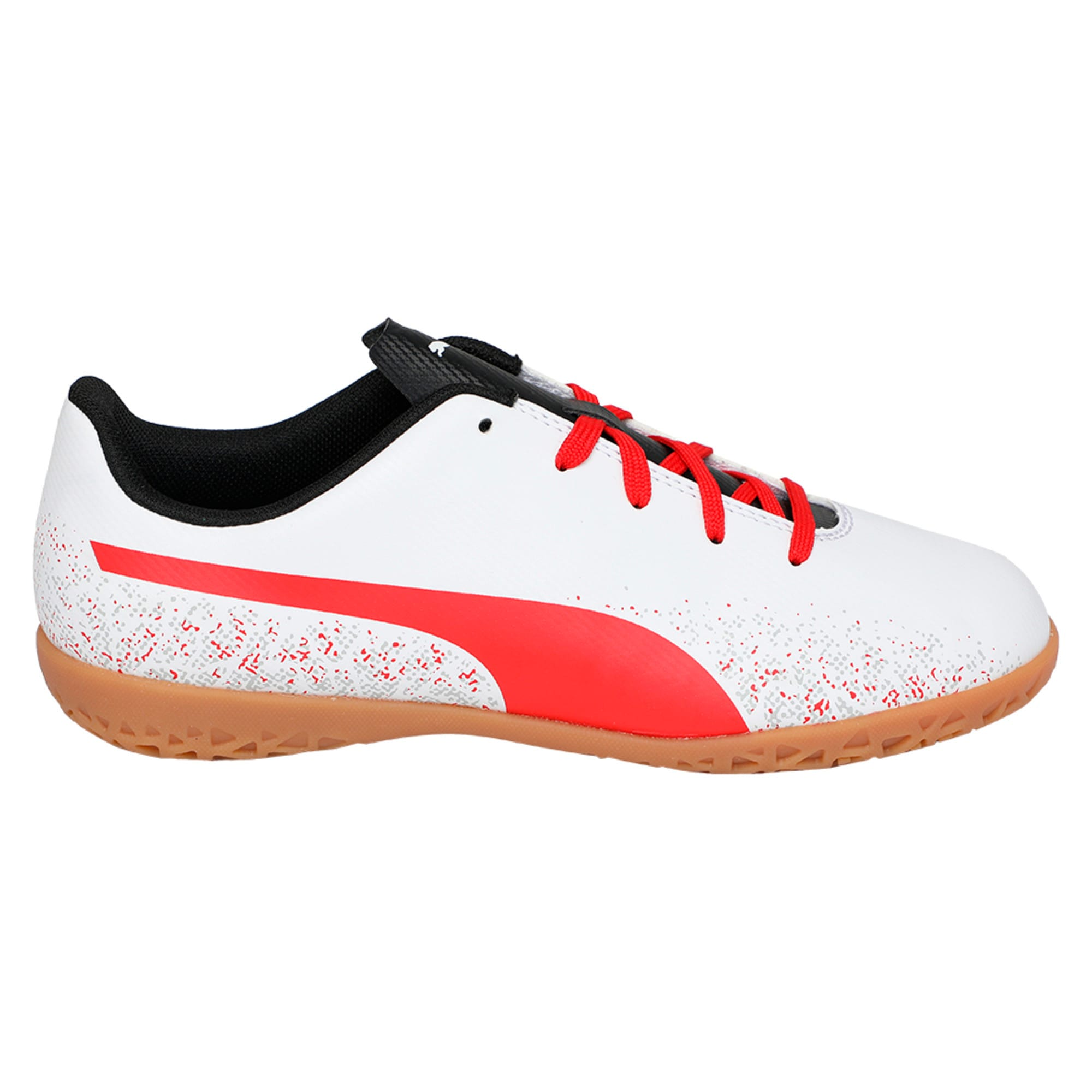 Thumbnail 5 of Truora IT Kids' Indoor Training Shoes, White-Flame Scarlet-Black, medium-IND