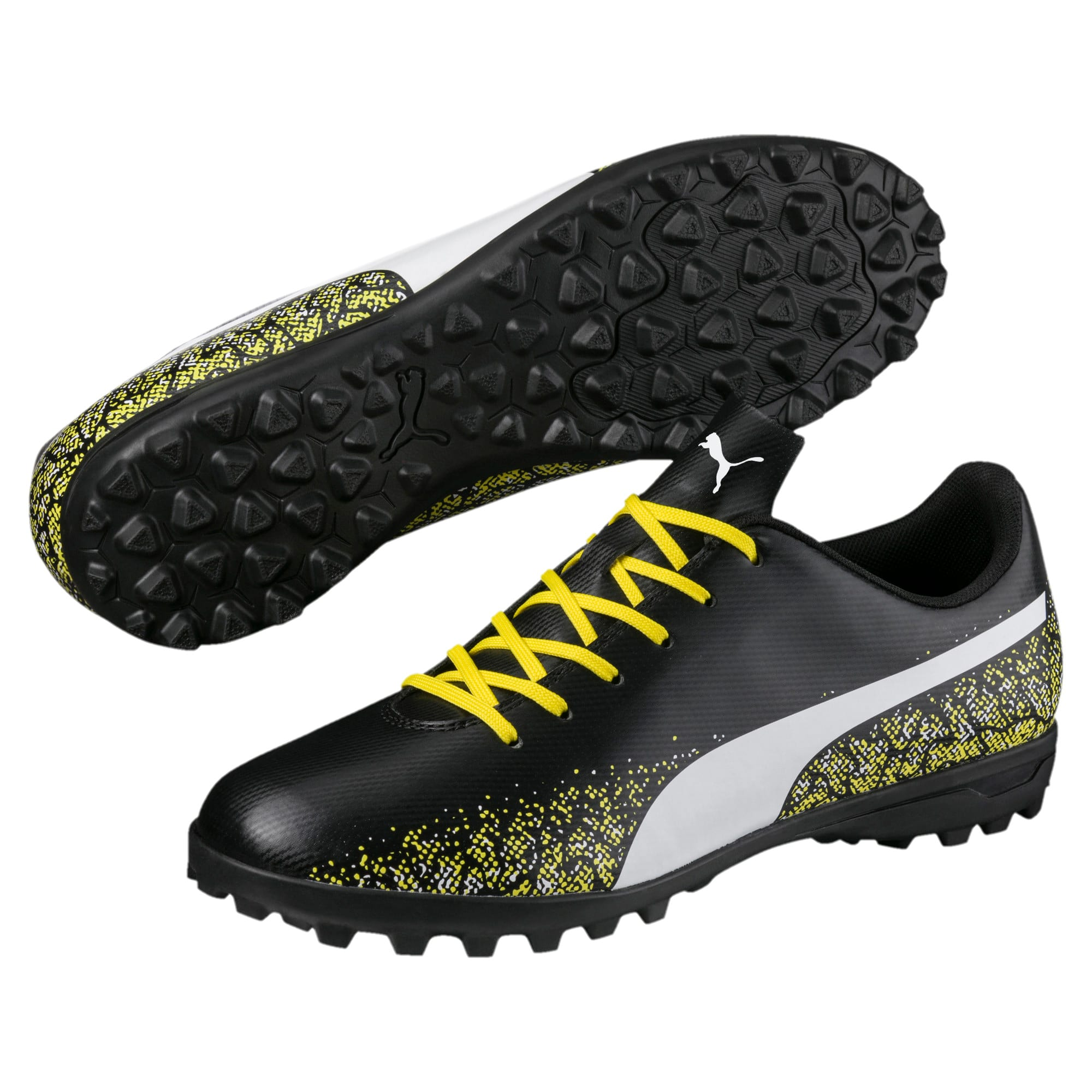 Thumbnail 2 of Truora TT Men's Football Boots, Black-White-Blazing Yellow, medium-IND