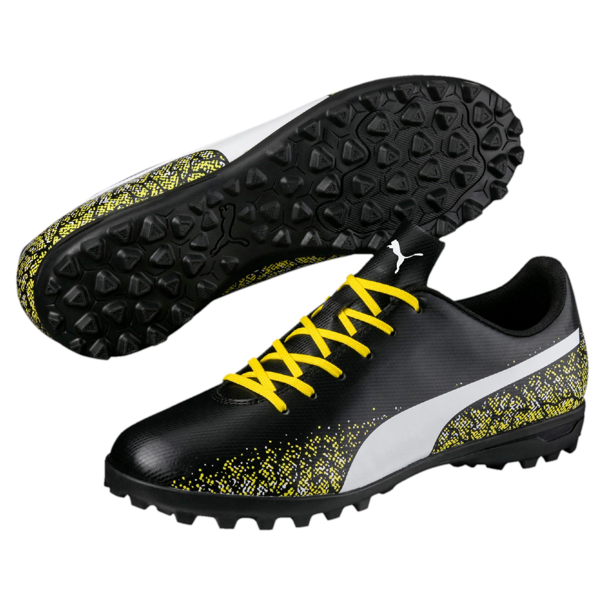 Thumbnail 6 of Truora TT Men's Football Boots, Black-White-Blazing Yellow, medium-IND