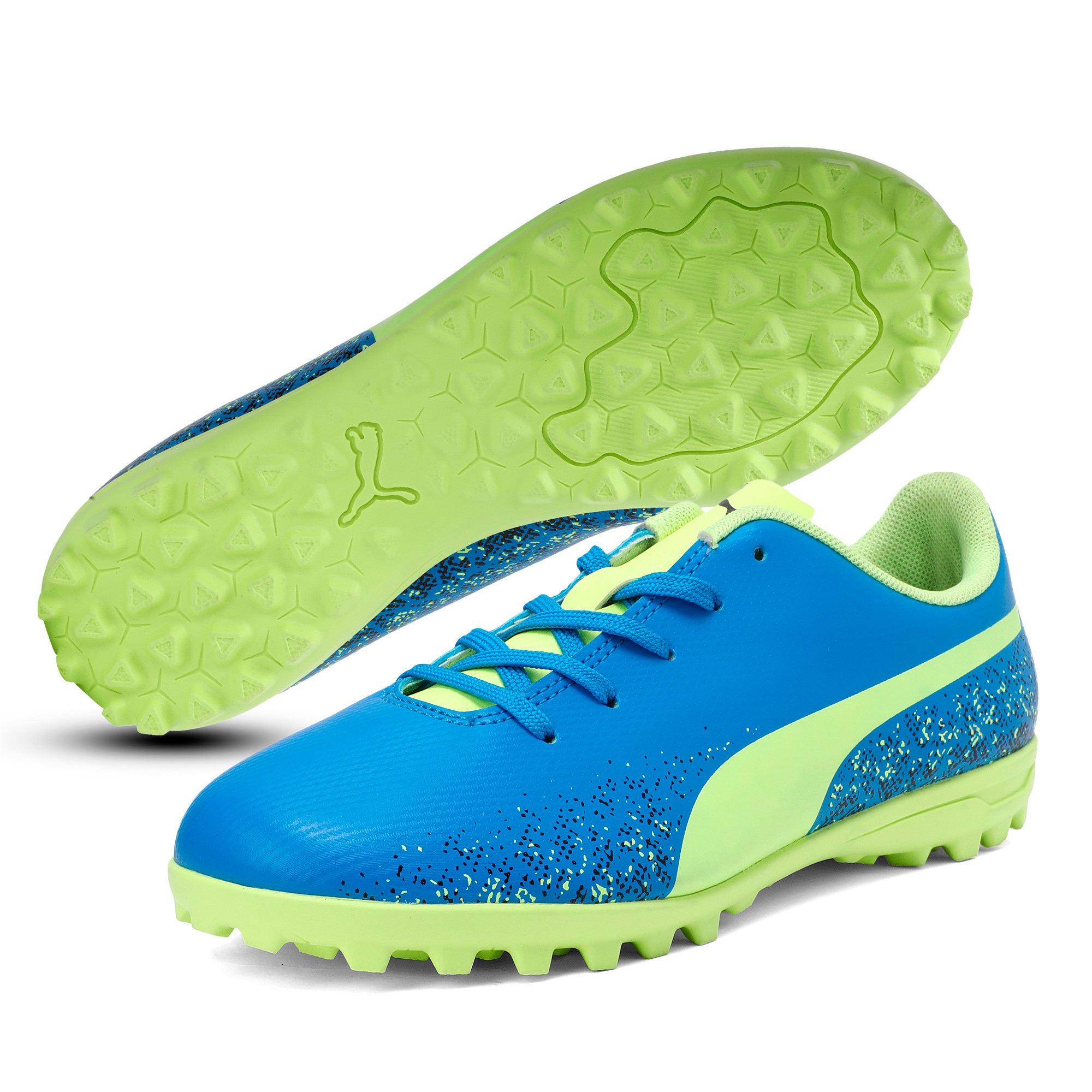 Thumbnail 2 of Truora TT Kids' Football Boots, Blue-Yellow-Black, medium-IND