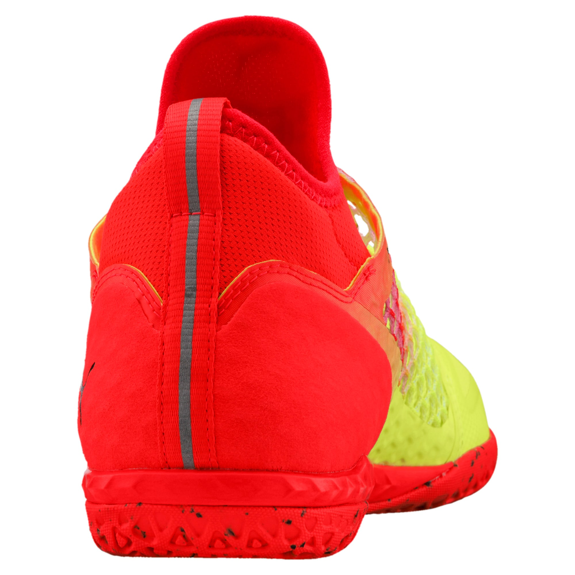 Thumbnail 3 of 365 IGNITE NETFIT CT Men's Court Football Boots, Yellow-Red-Black, medium-IND